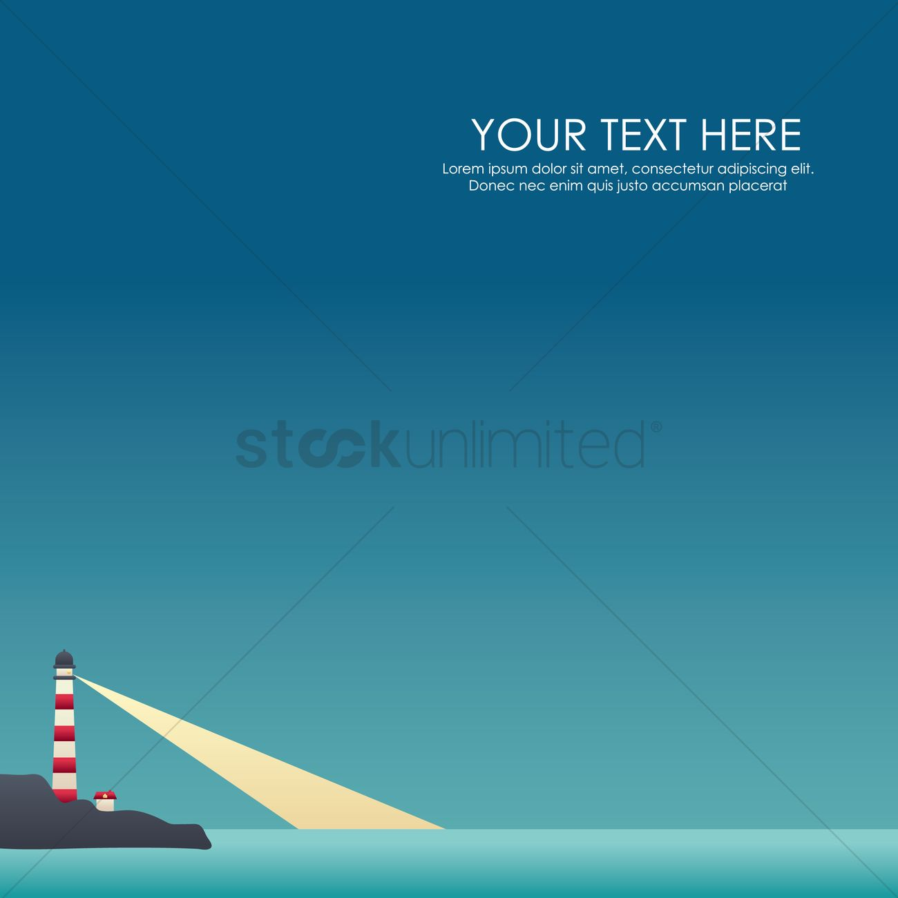 Lighthouse Wallpaper Vector Graphic