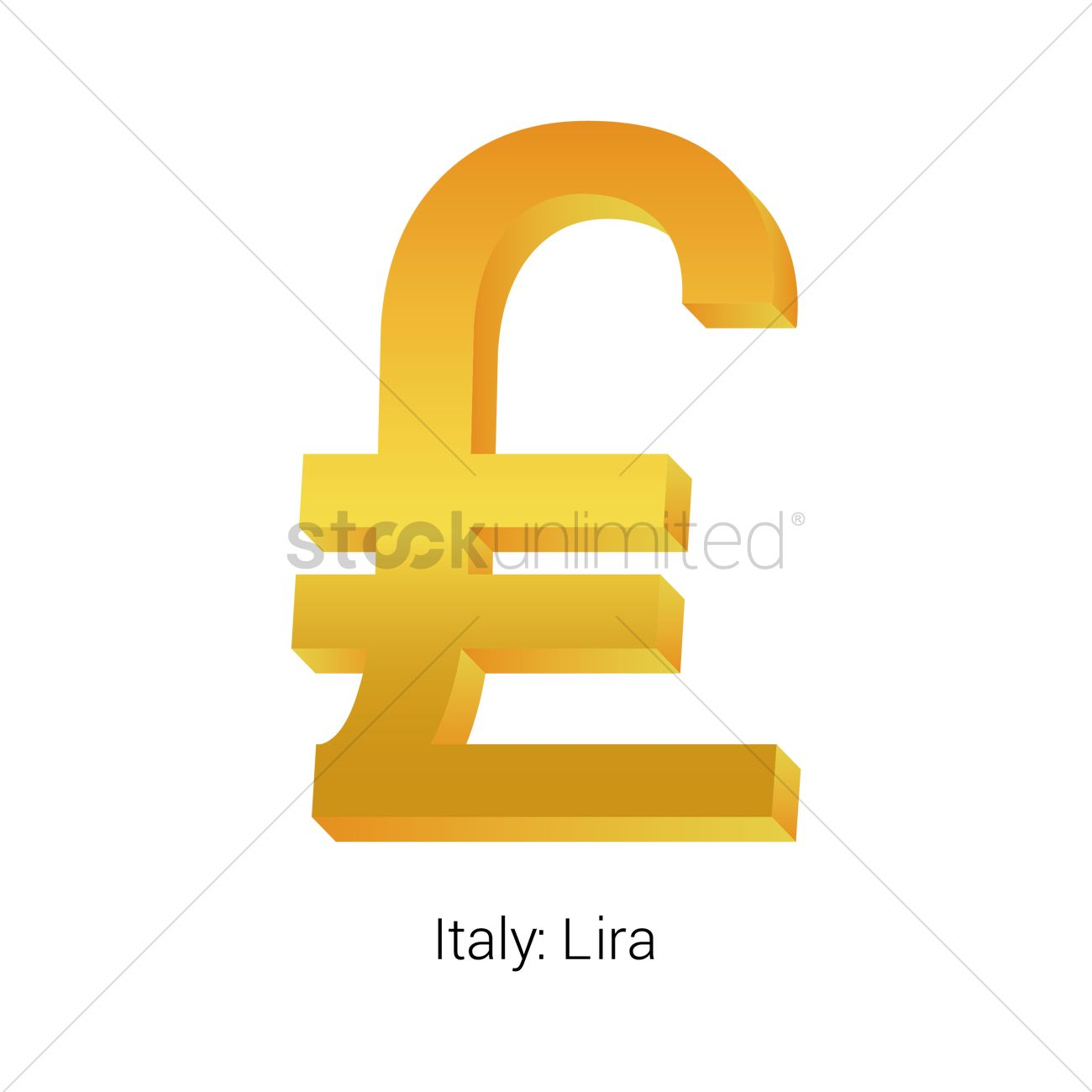 Lira Currency Symbol Vector Image 1821469 Stockunlimited