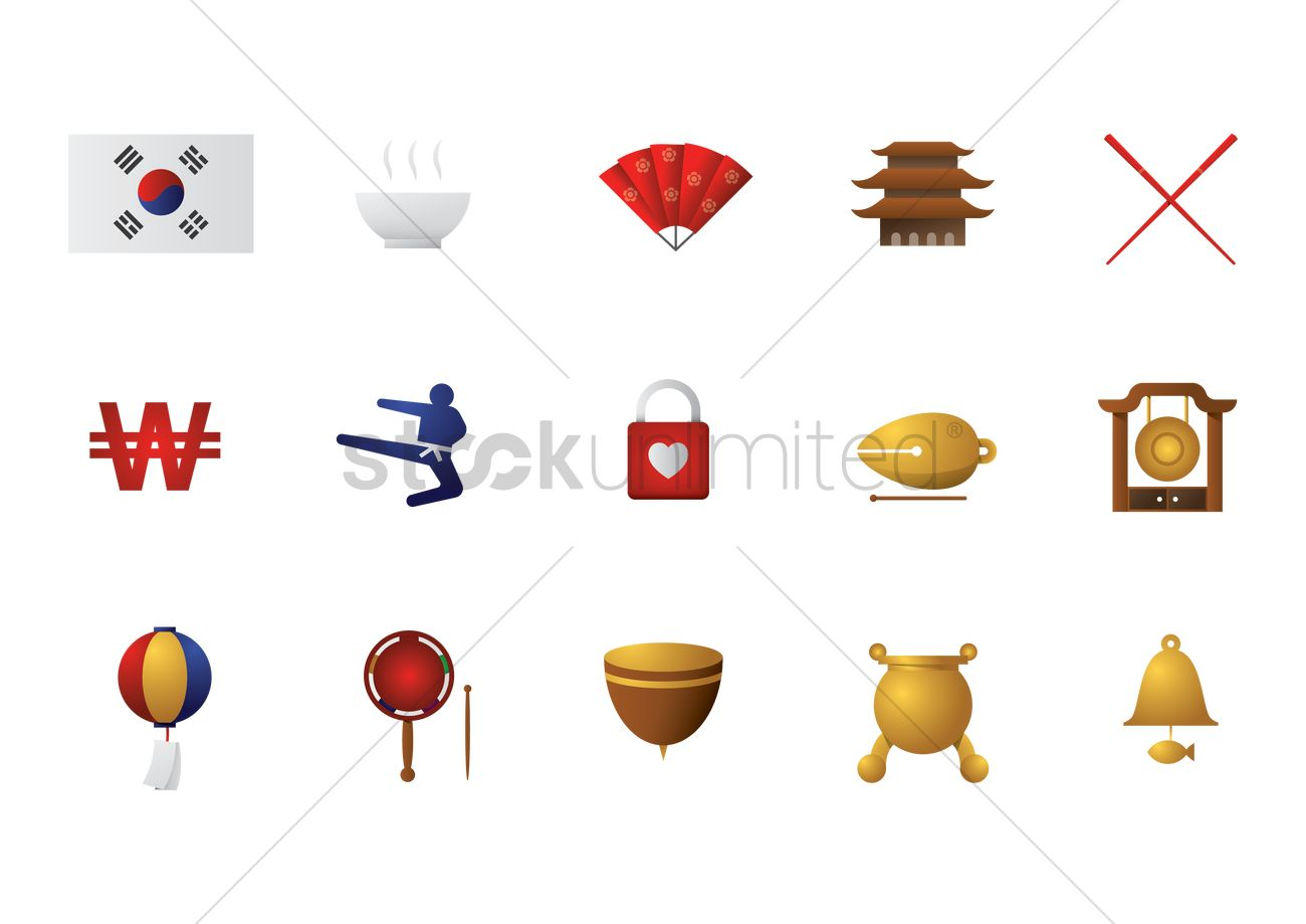 List of korean icons vector image 2013861 stockunlimited list of korean icons vector graphic biocorpaavc Image collections