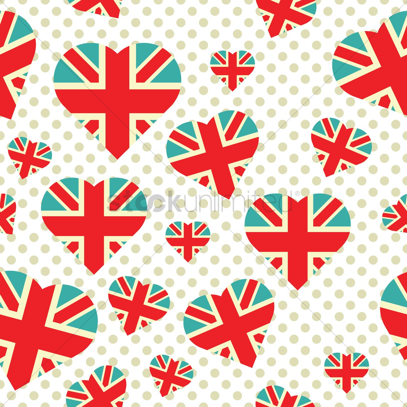 London Flag Background Vector Graphic