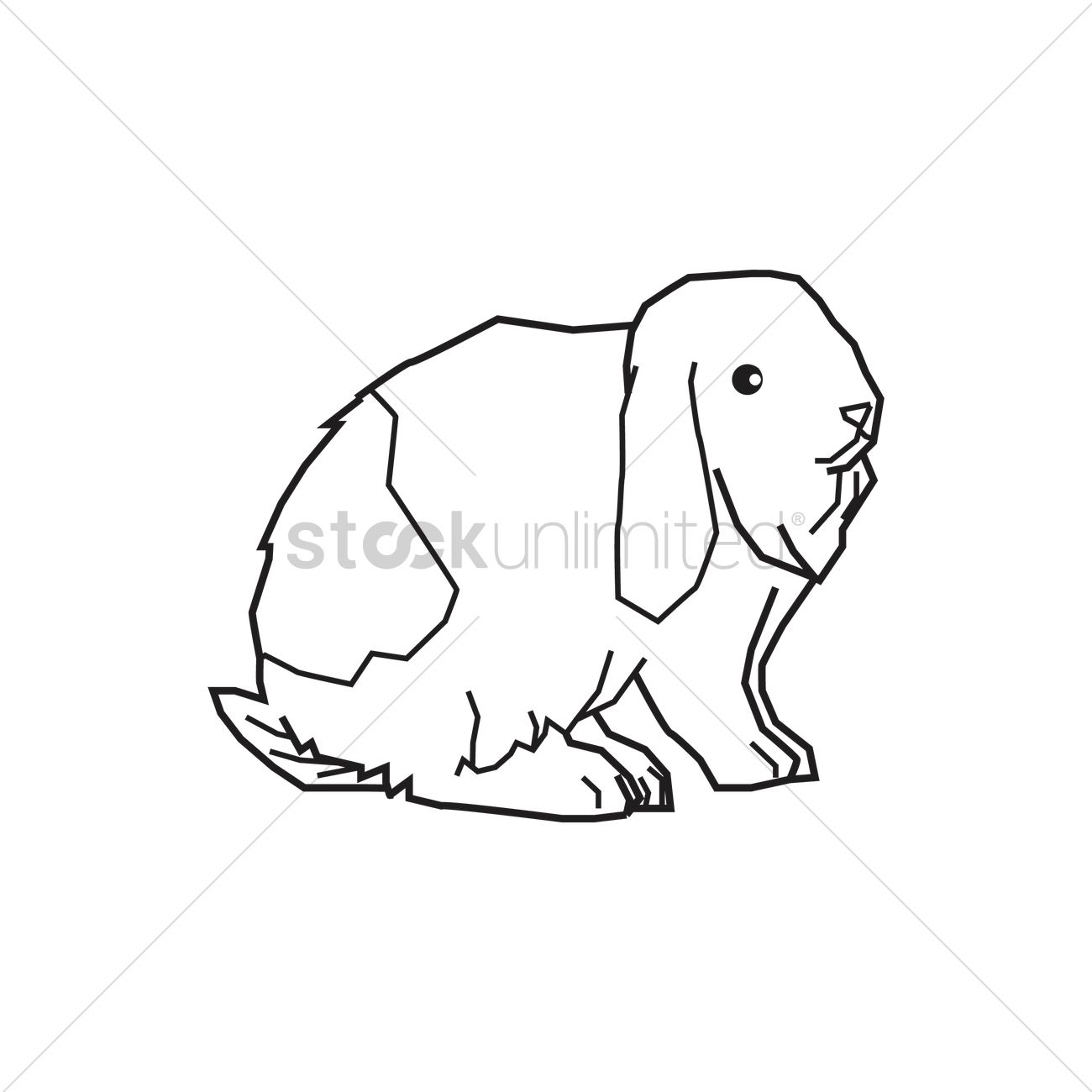 lopped ear rabbit outline vector image 1958569 stockunlimited