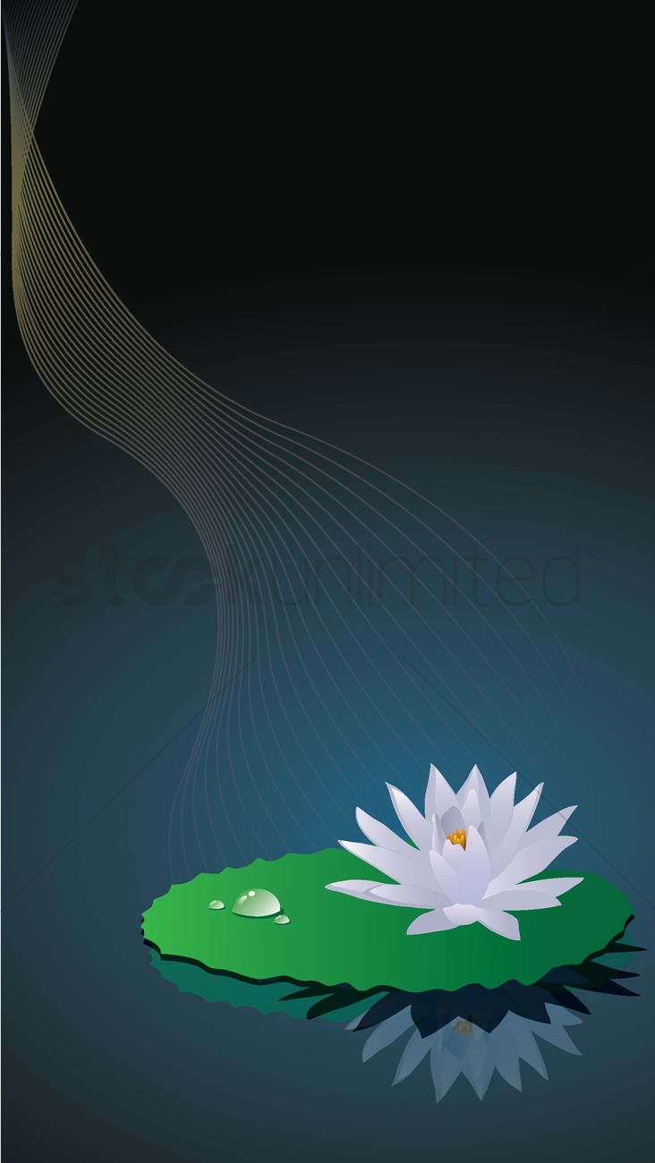 Lotus Flower Background Vector Image 1942321 Stockunlimited