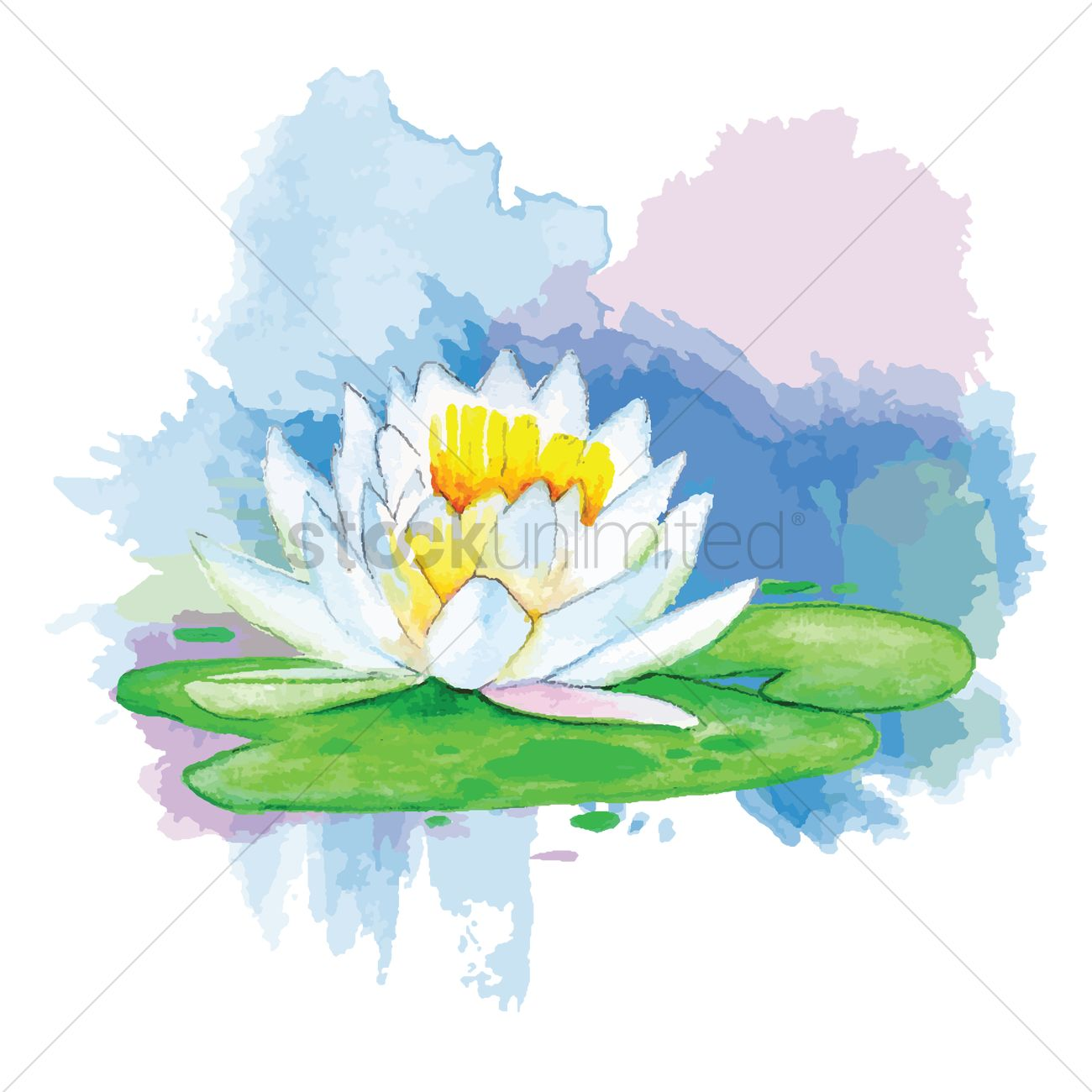 Lotus Flower With Leaf Vector Image 1869621 Stockunlimited