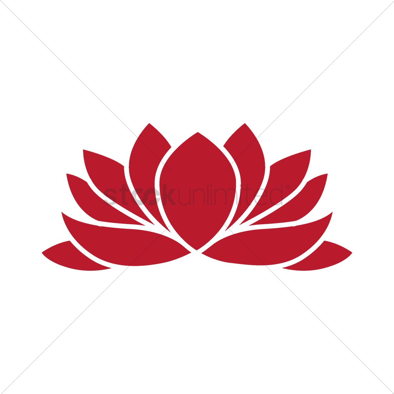 Lotus Flower Vector Image 1968445 Stockunlimited