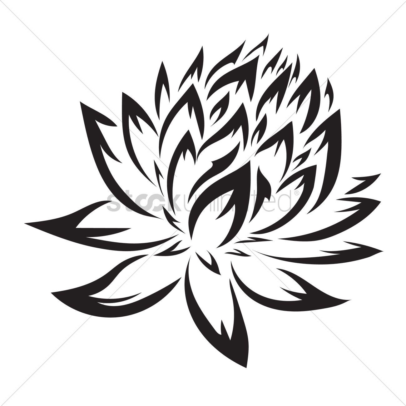 Lotus Tattoo Design Vector Image 1434417 Stockunlimited