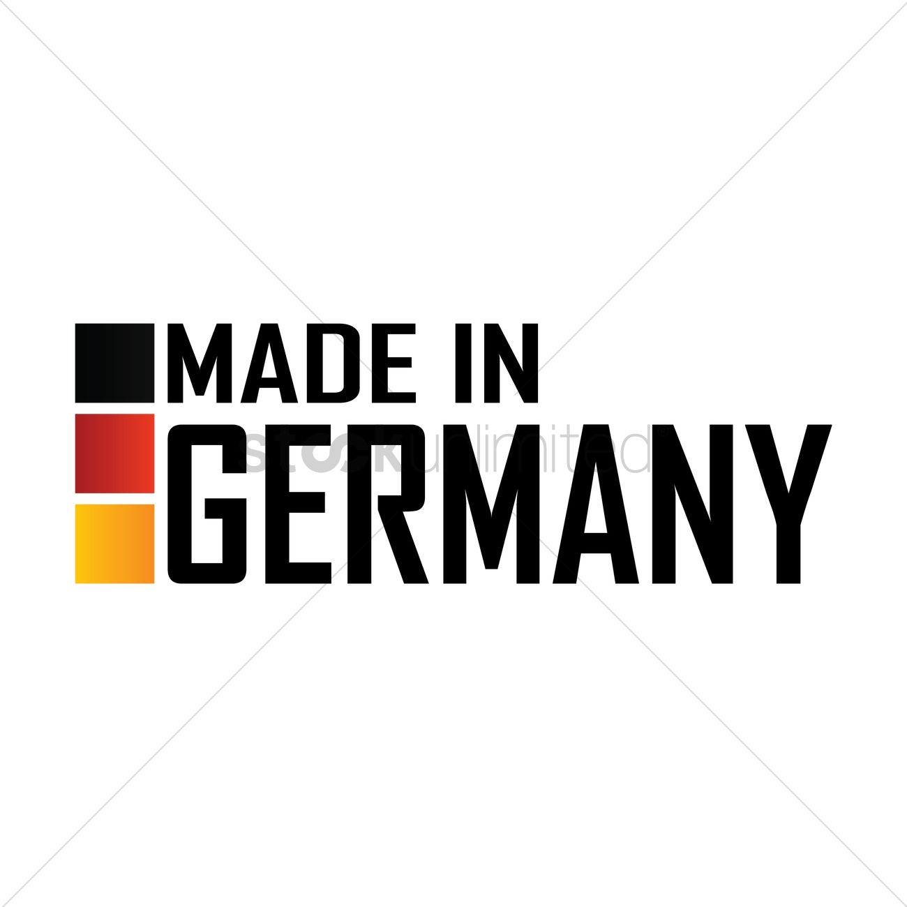 Made In Germany Label Design Vector Image 1976813 Stockunlimited