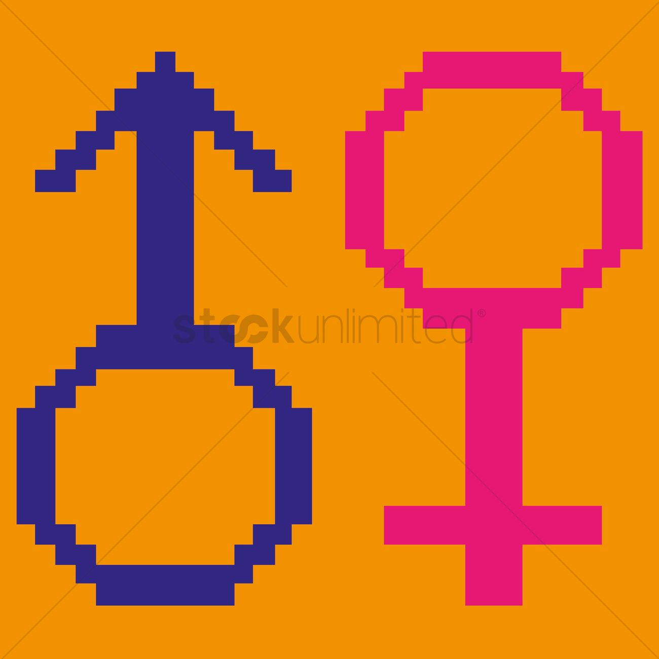 Free Male And Female Symbol Vector Image 1268389 Stockunlimited