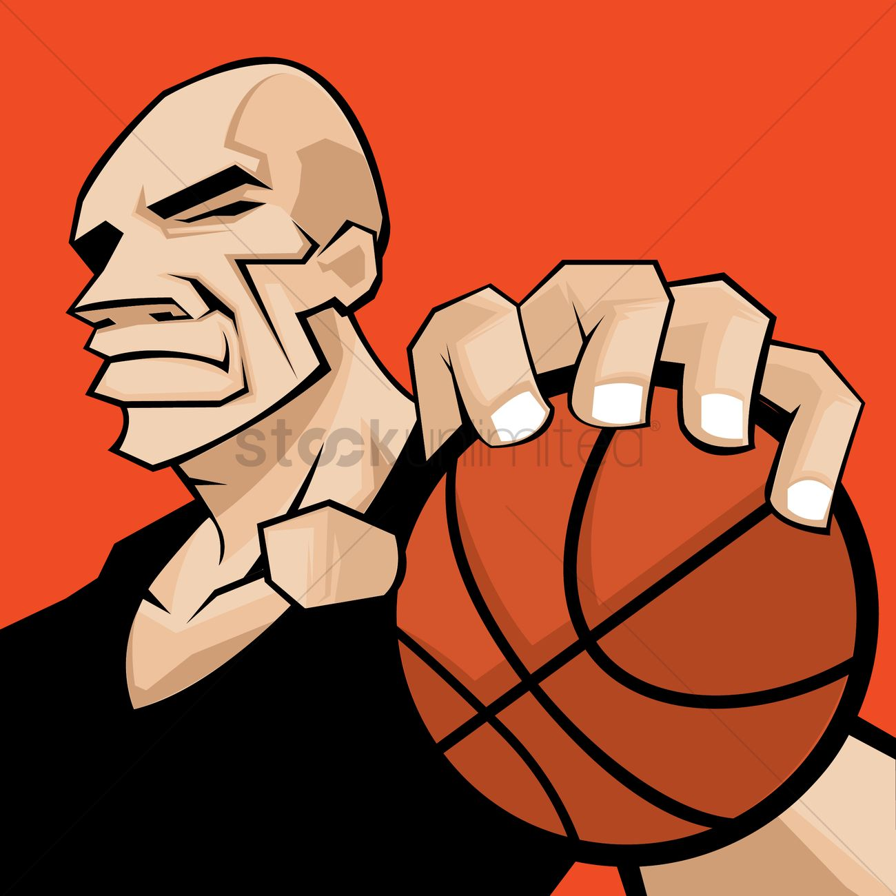 man holding basketball vector image 1275225 stockunlimited