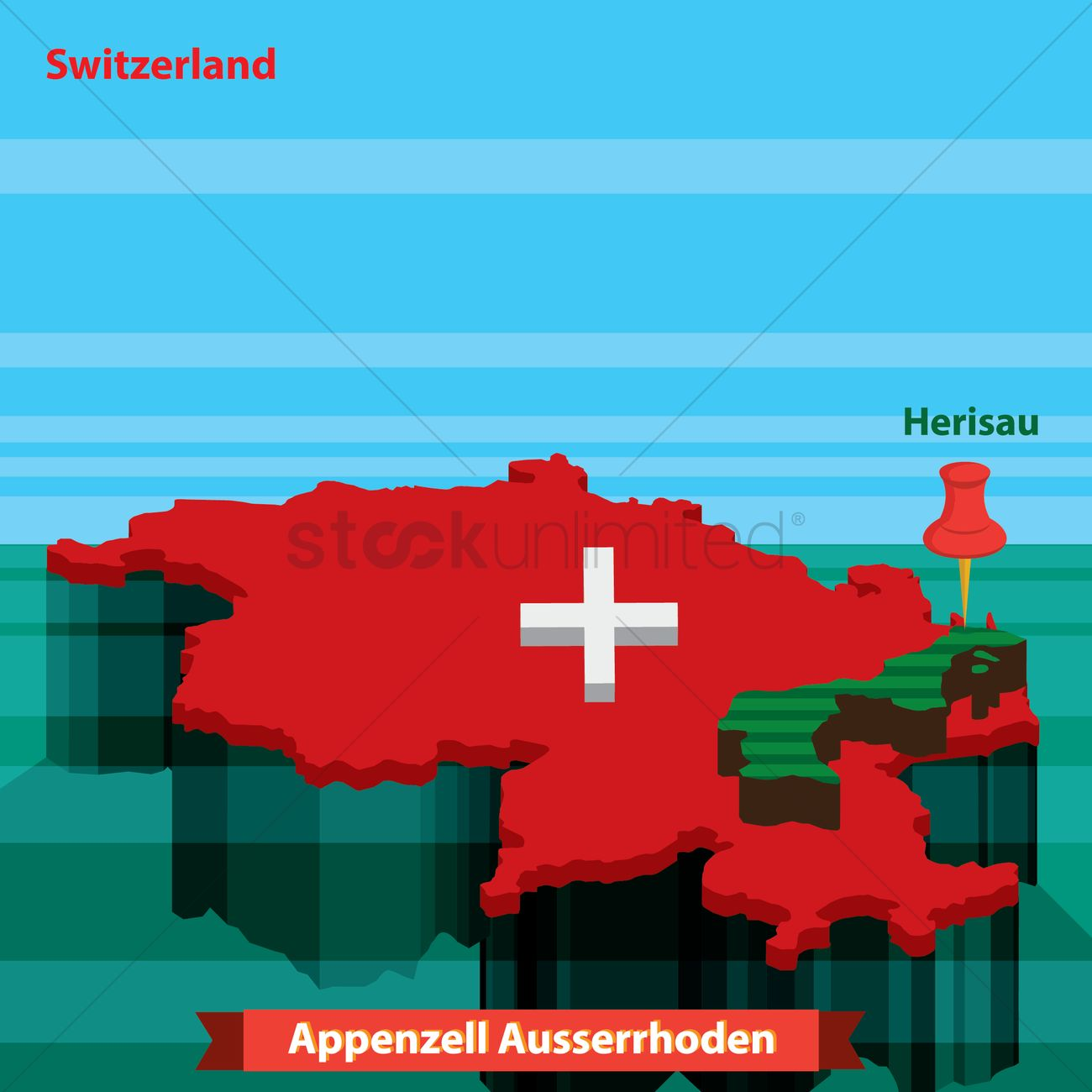 Map of appenzell ausserrhoden Vector Image - 2034889 ...