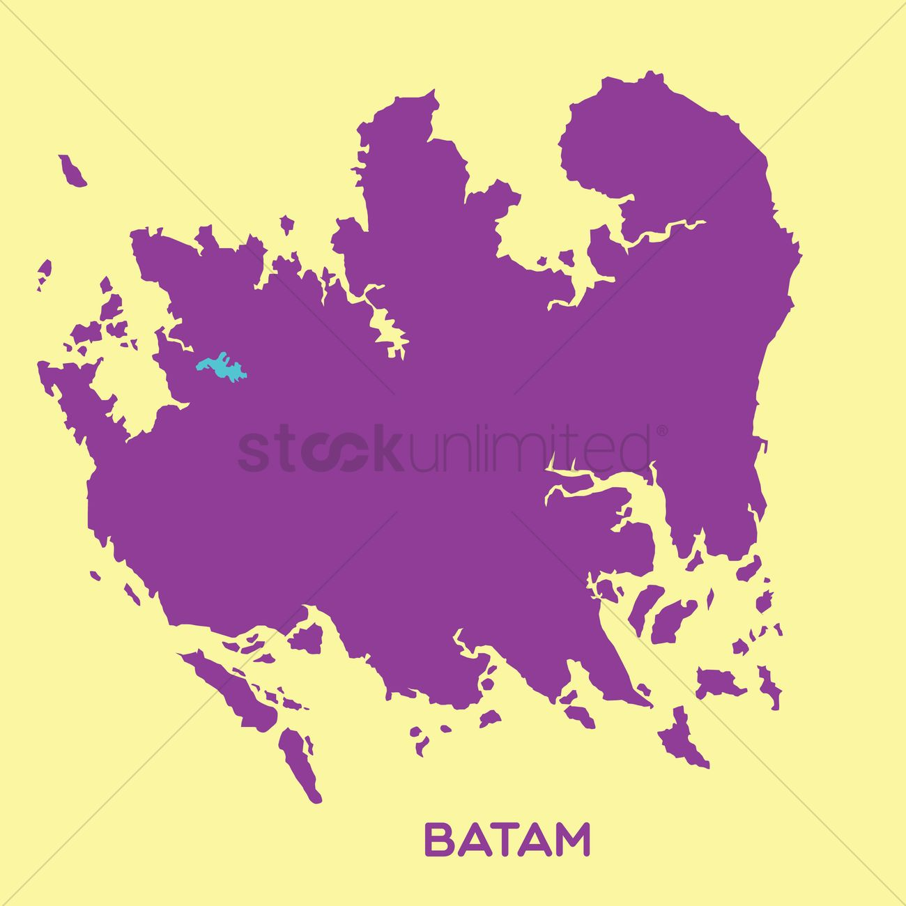 Map of batam Vector Image 1480501 StockUnlimited