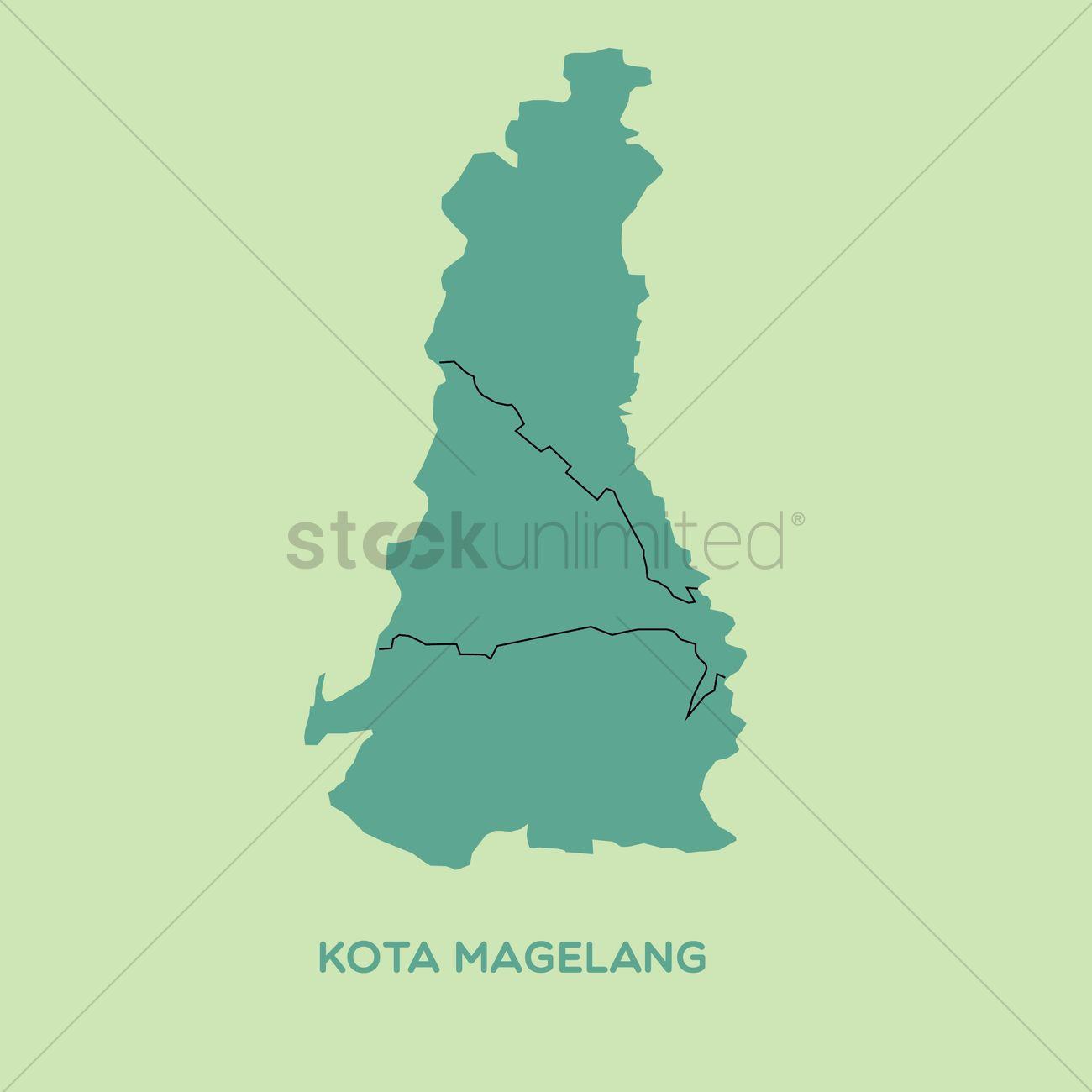Map Of Kota Magelang Vector Image 1480561 Stockunlimited