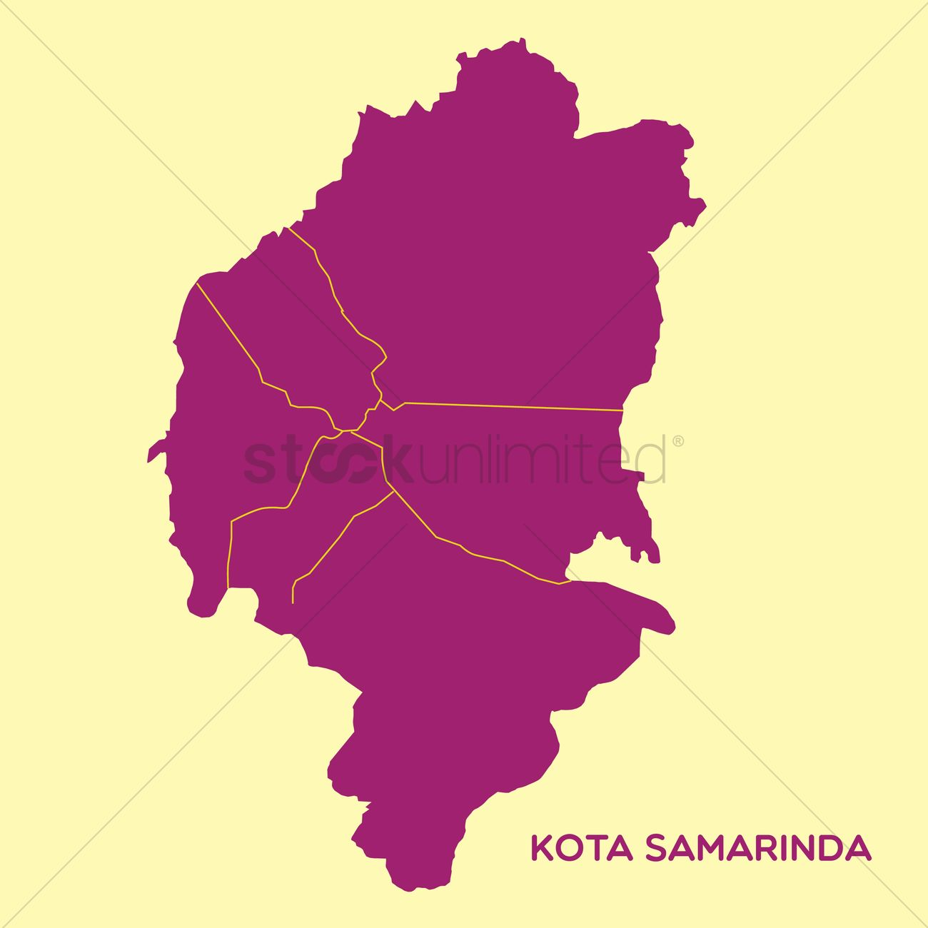 Map of kota samarinda Vector Image - 1480225 | StockUnlimited
