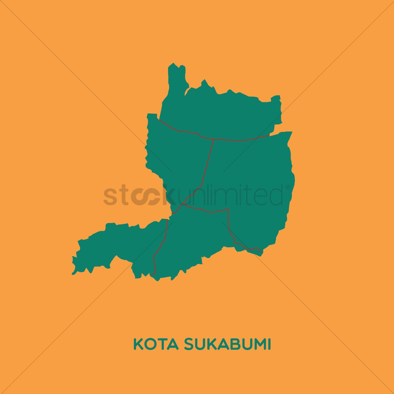 Map Of Kota Sukabumi Vector Image 1479785 Stockunlimited