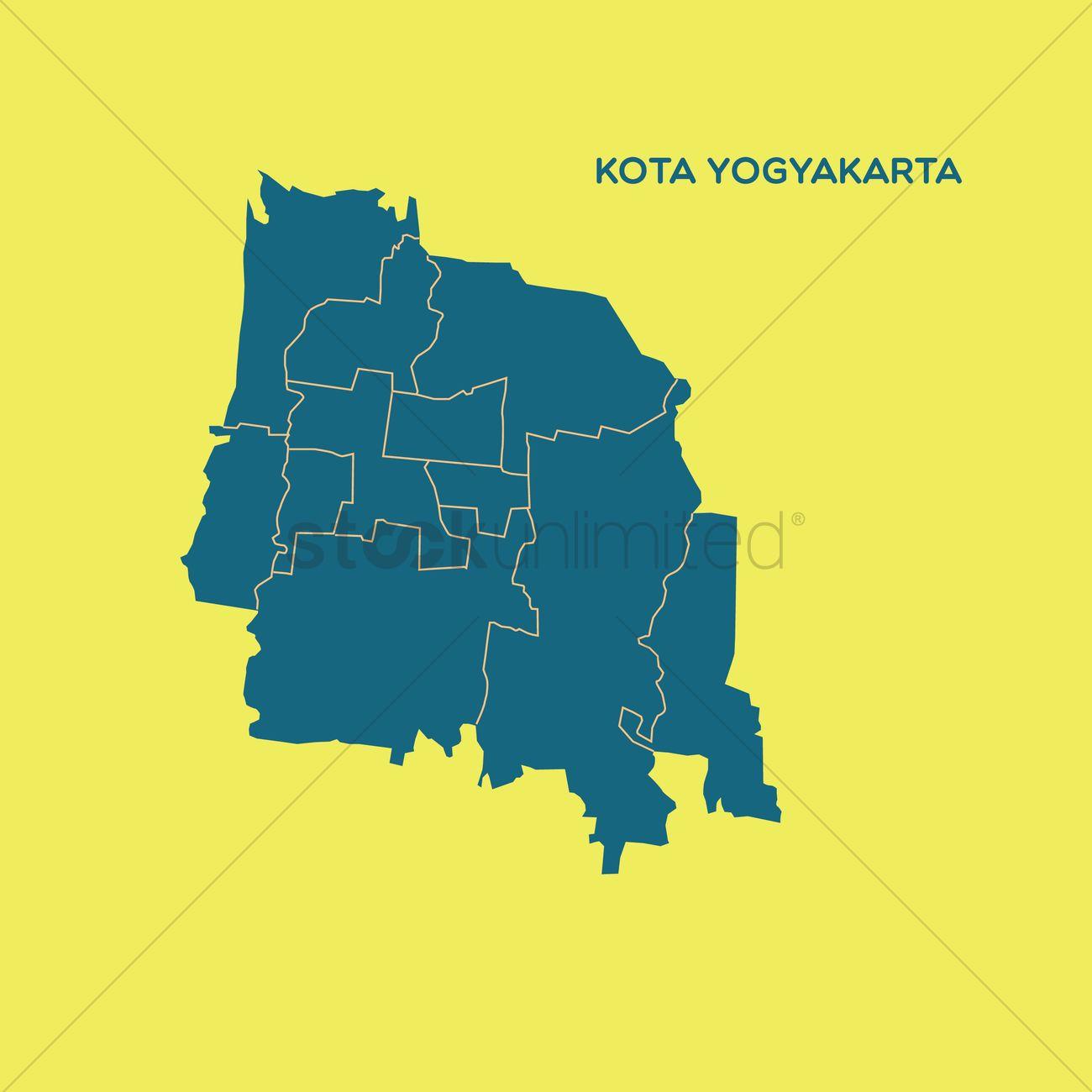 Map of kota yogyakarta Vector Image - 1479825 | StockUnlimited