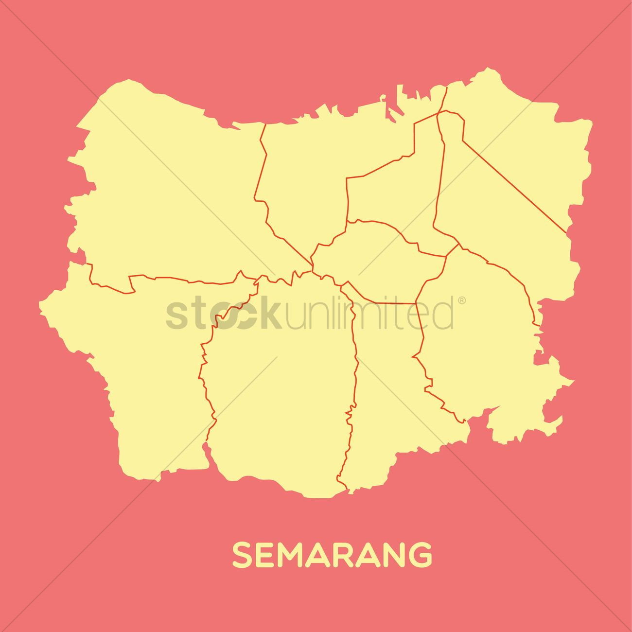 Map of semarang Vector Image 1479769 StockUnlimited