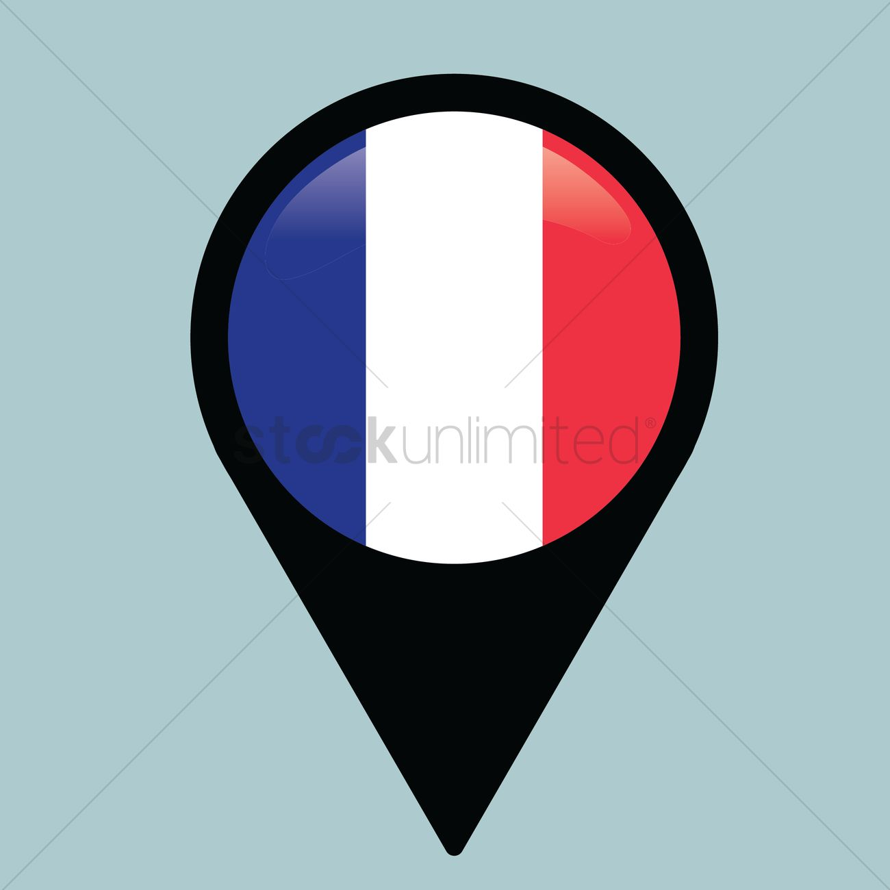 Map France 945.Map Pointers With France Flag Vector Image 1327945 Stockunlimited
