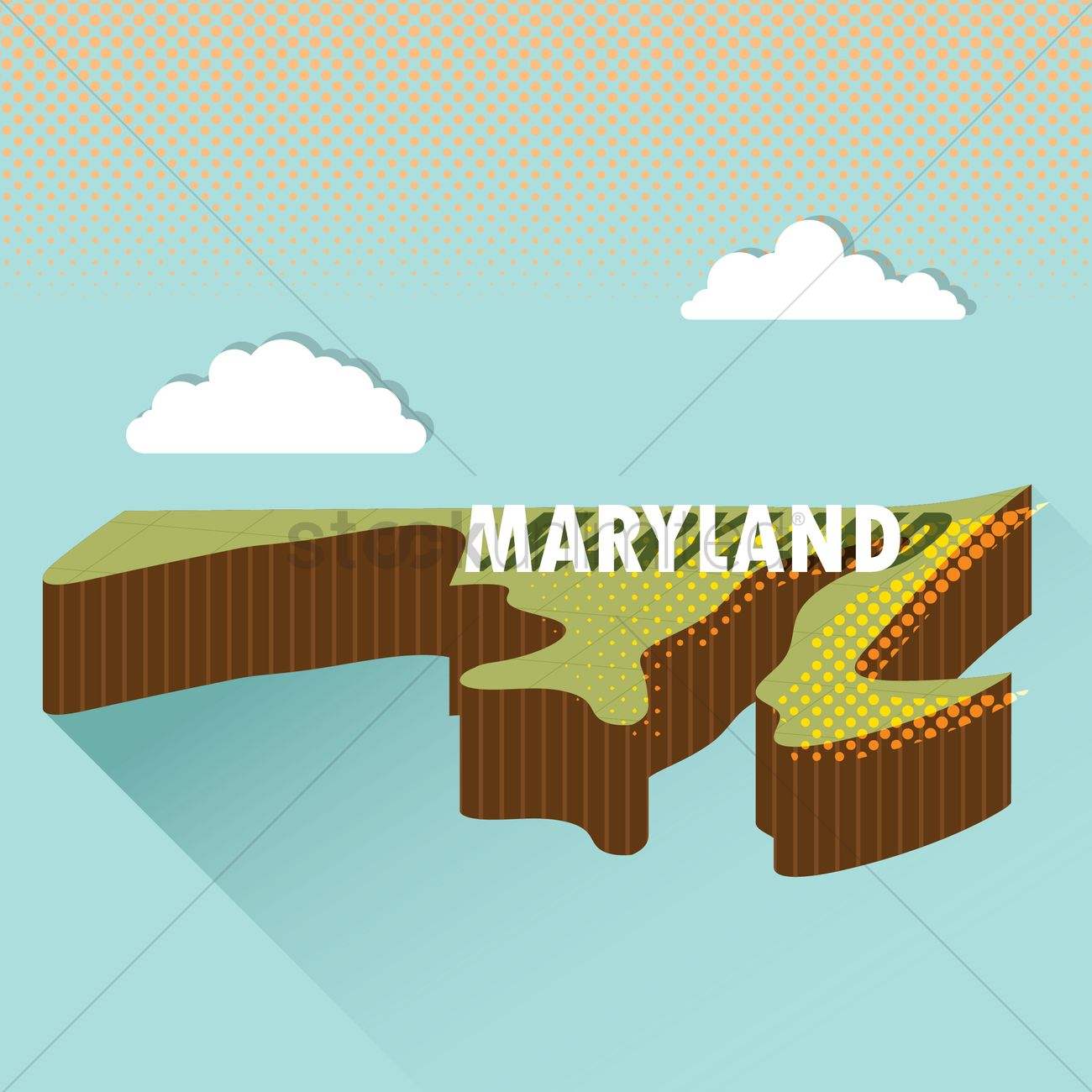 Maryland map Vector Image 1618773 StockUnlimited