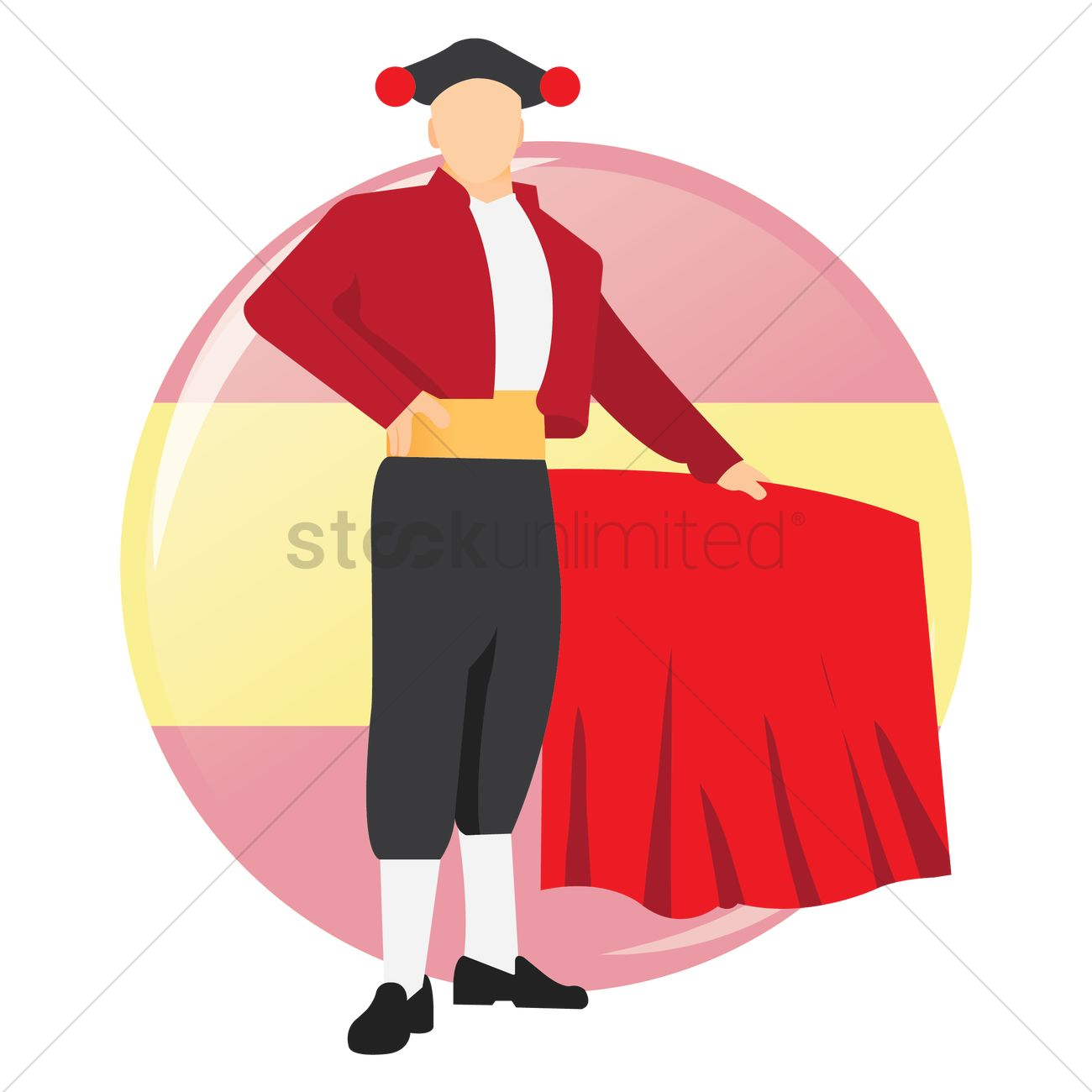 matador vector image 1600757 stockunlimited rh stockunlimited com Bullfighter Clip Art Matador Cartoon