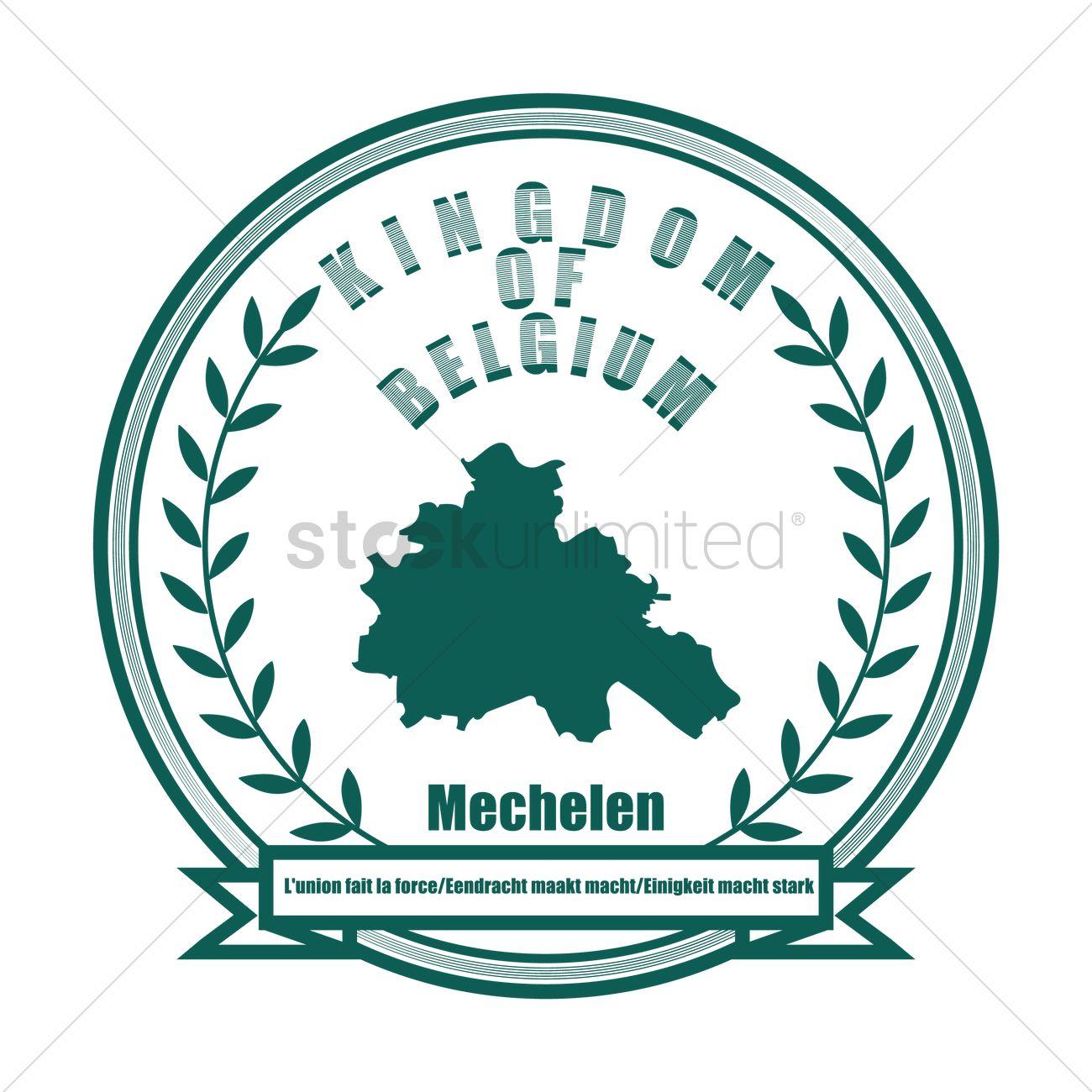 Mechelen map Vector Image 1585265 StockUnlimited