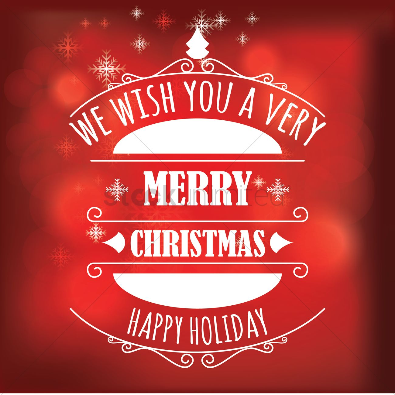 Free Merry Christmas And Holiday Greetings Vector Image 1603981