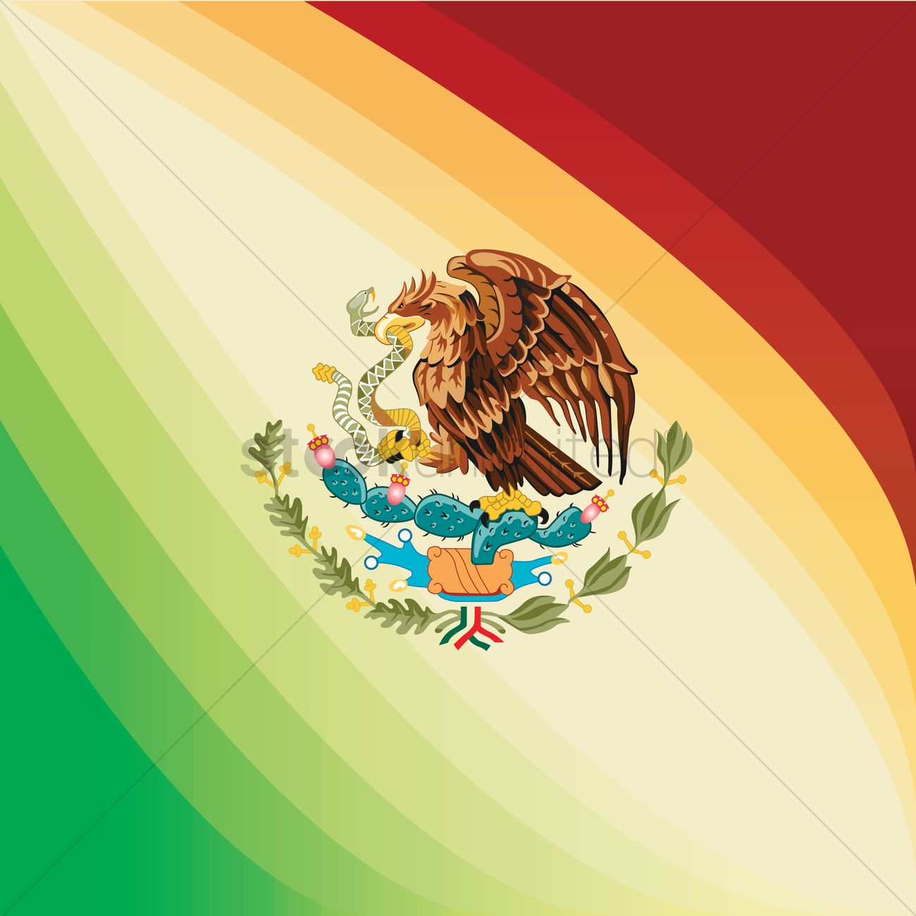 mexico flag background vector image 1582281 stockunlimited