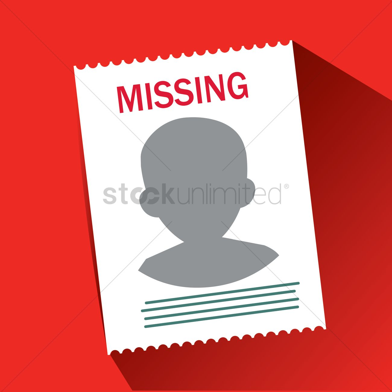 Missing Person Poster Vector Graphic  Missing Persons Posters