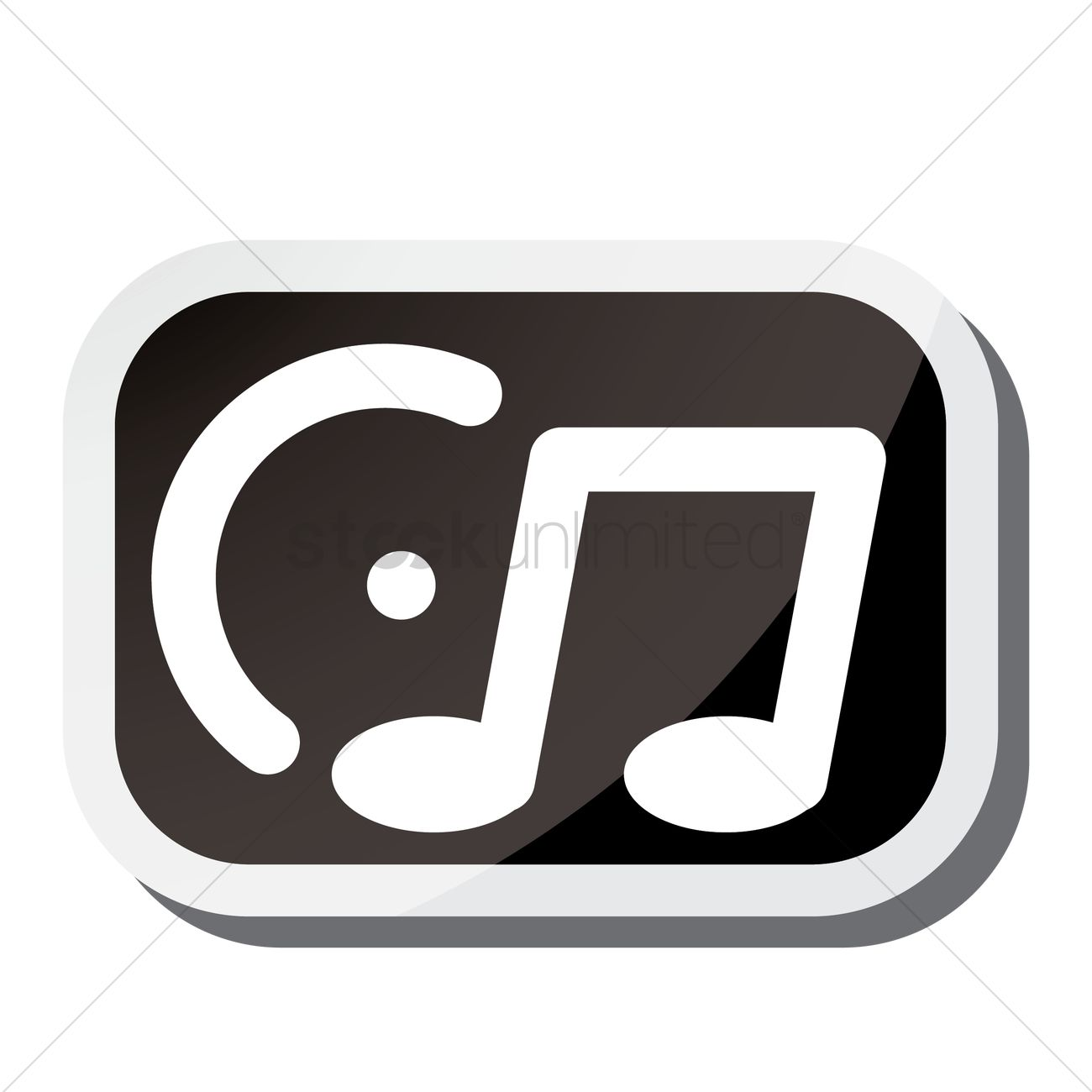 Music player icon Vector Image - 1941733 | StockUnlimited