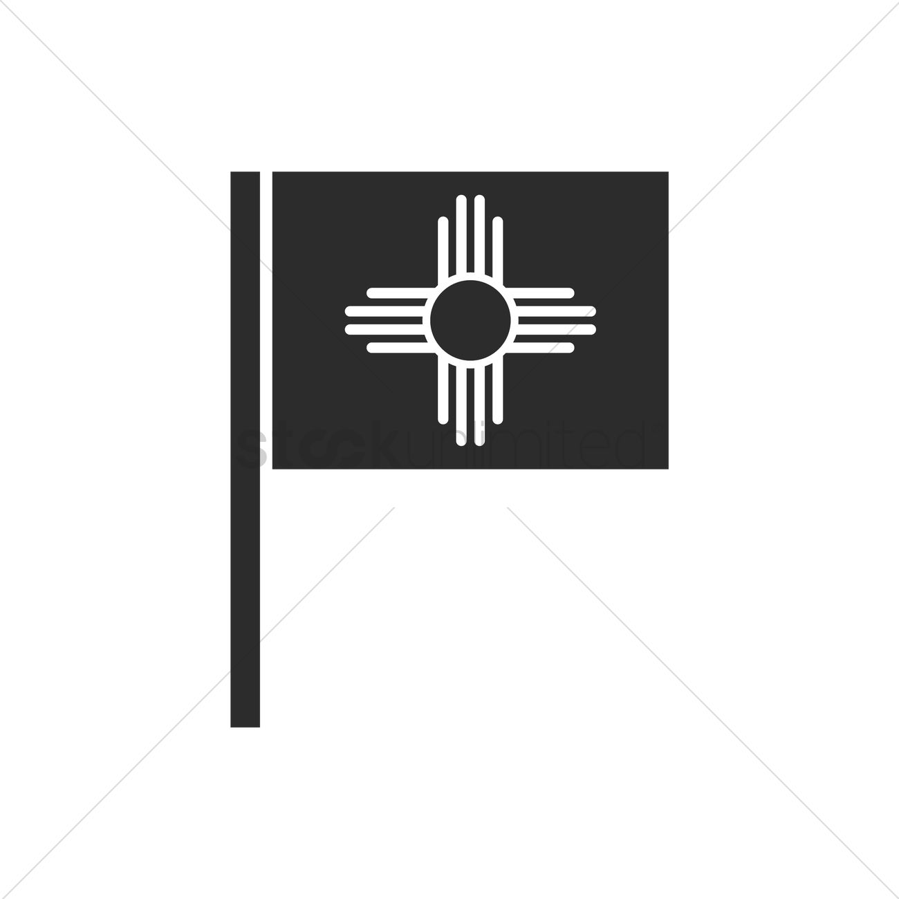 New Mexico Flag Vector Image 1617417 Stockunlimited