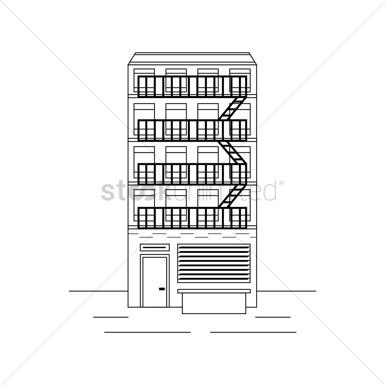 Apartment Building Graphic new york apartment building vector image - 1547445 | stockunlimited