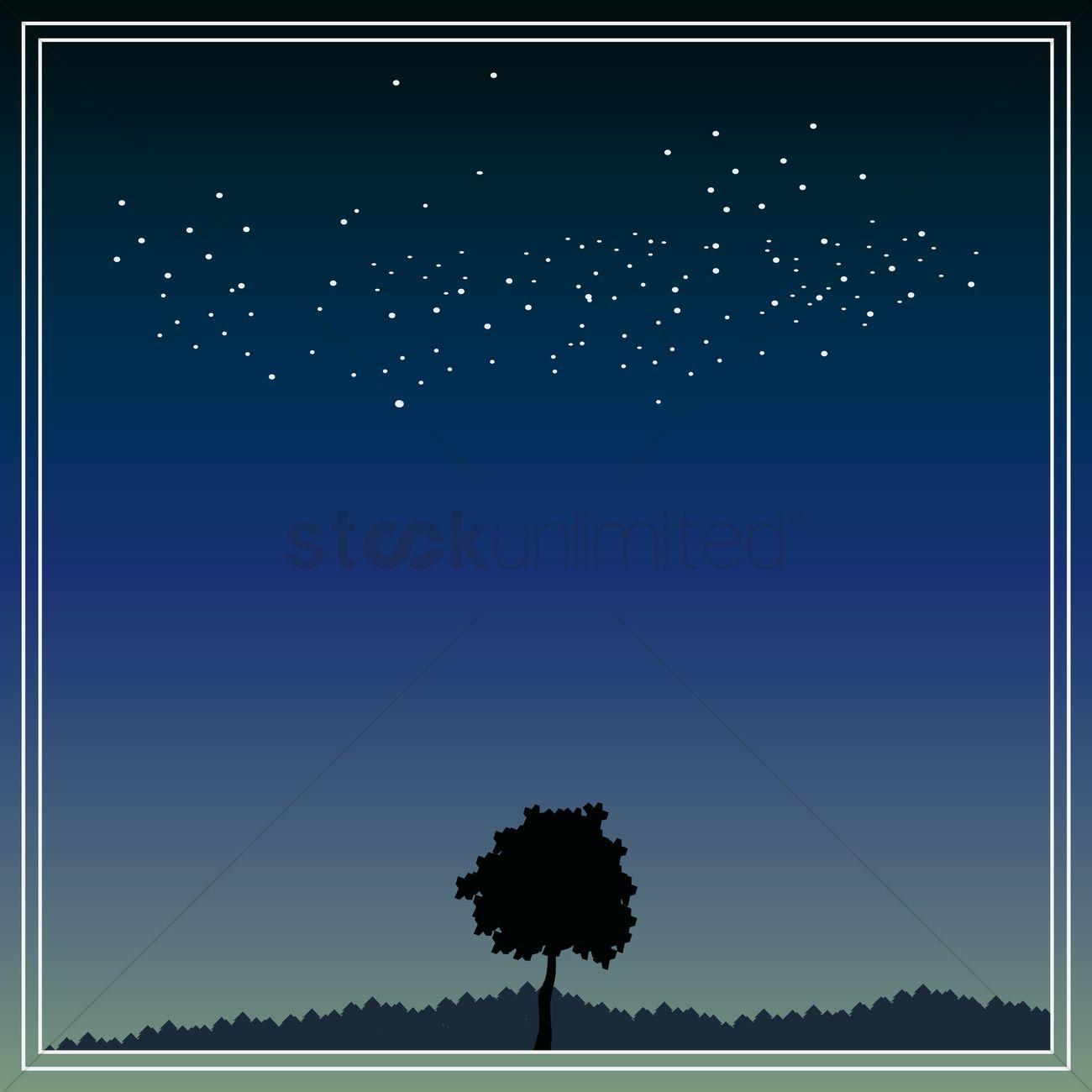 Night sky background design Vector Image - 1975441 | StockUnlimited
