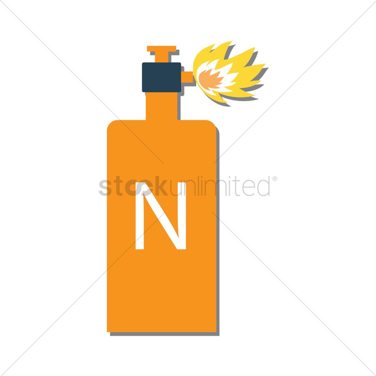 Nitrogen Gas Tank Vector Image 1445161 Stockunlimited