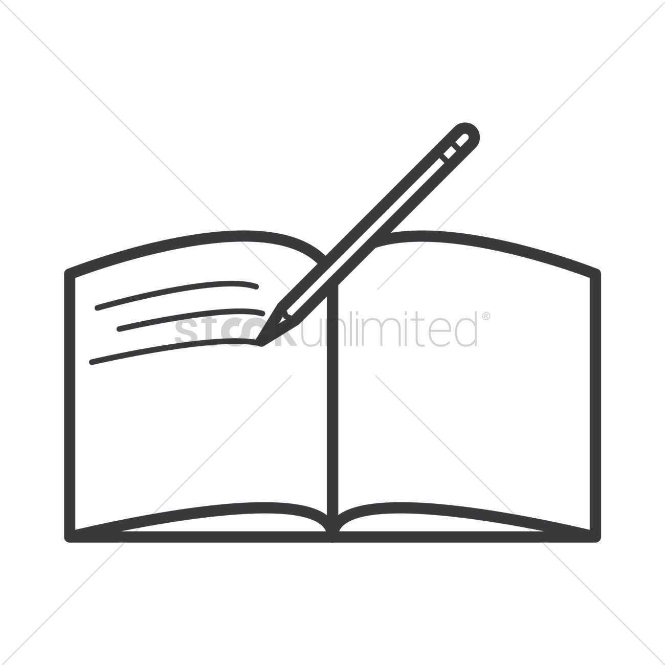 open book with pen icon vector image 1577797 stockunlimited