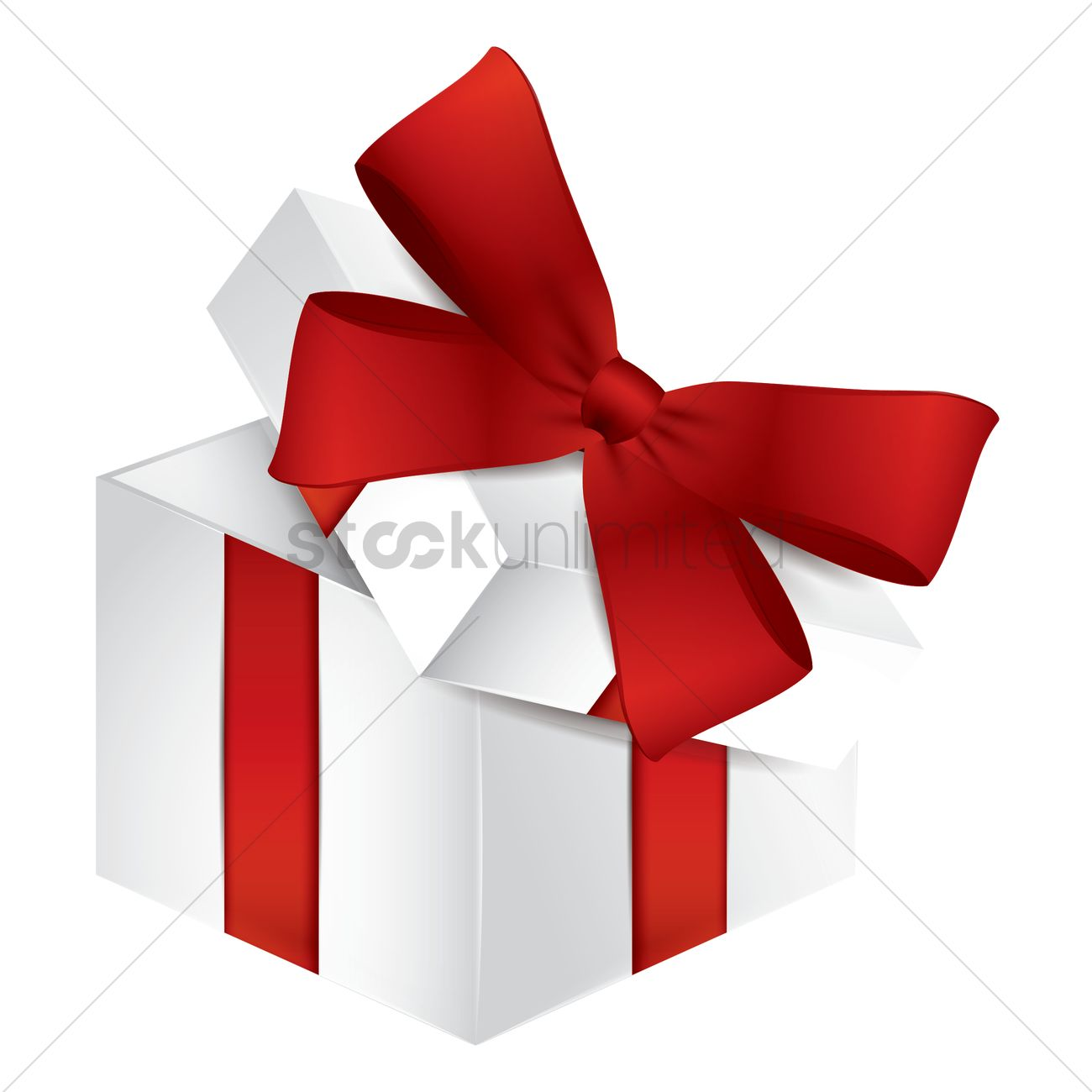 ef661191bdce0 Opened gift box with ribbon Vector Image - 1934409