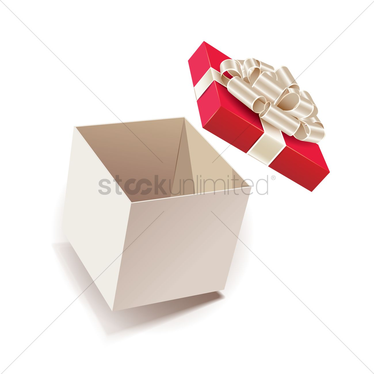 d7f23c48cfa3e Opened gift box Vector Image - 1934297