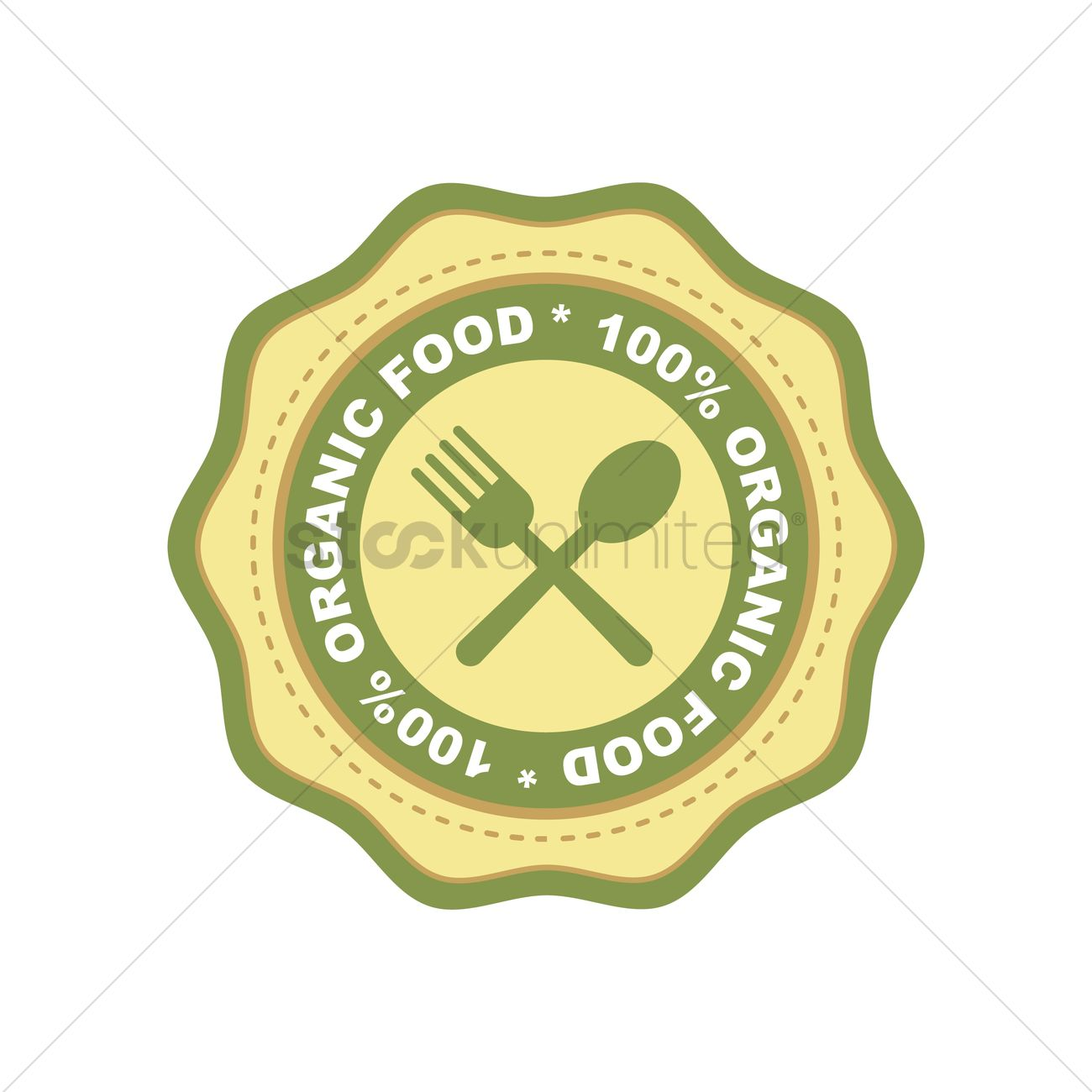Organic food label design Vector Image - 2029873