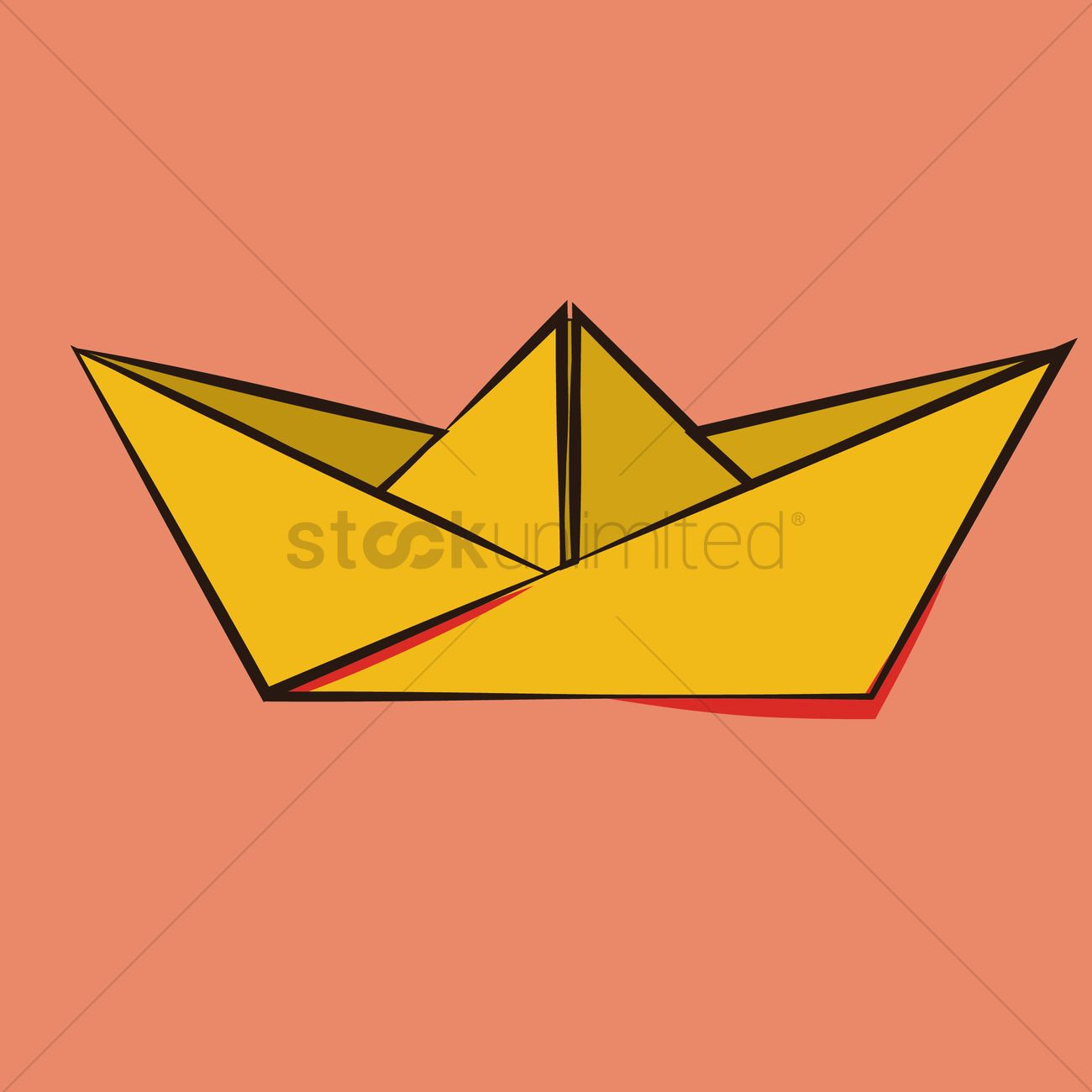 Origami Paper Boat Vector Image 1597629 Stockunlimited