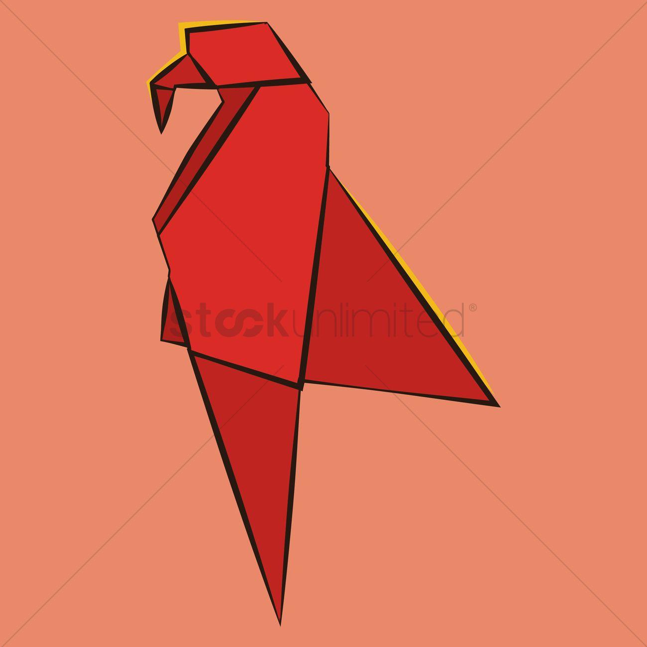 Origami Macaw Parrot by Manuel Sirgo | Cómo hacer origami loro ... | 1300x1300