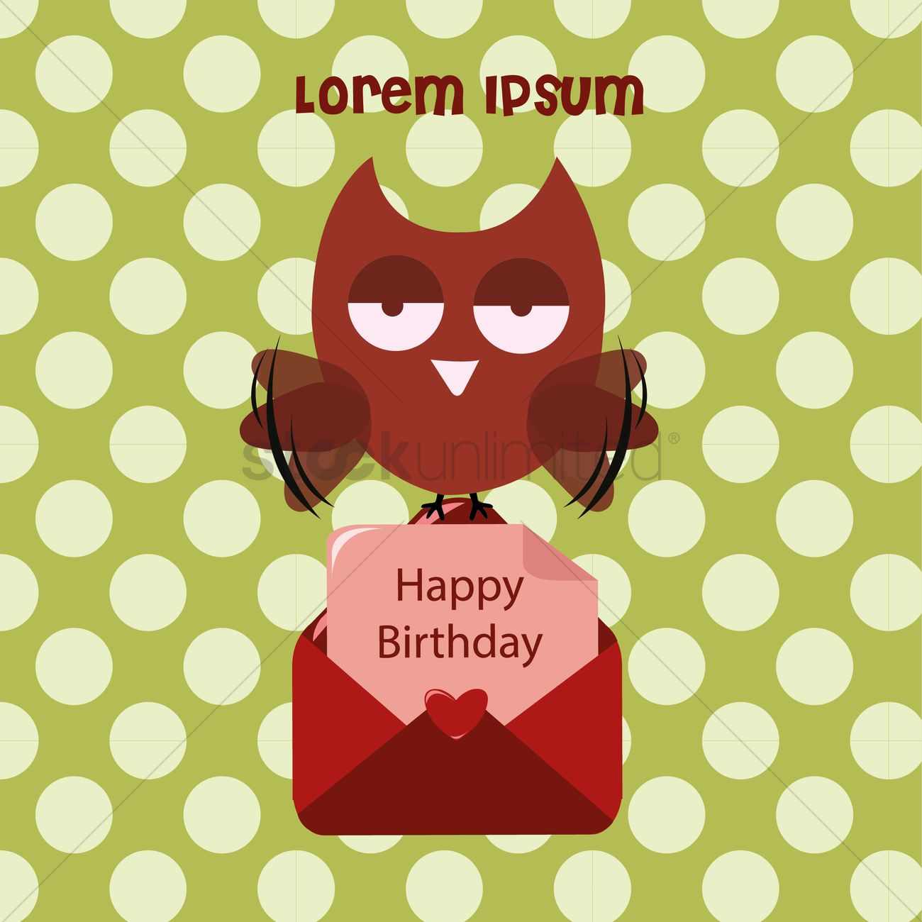 Owl With A Birthday Greeting Card Vector Image 1315393