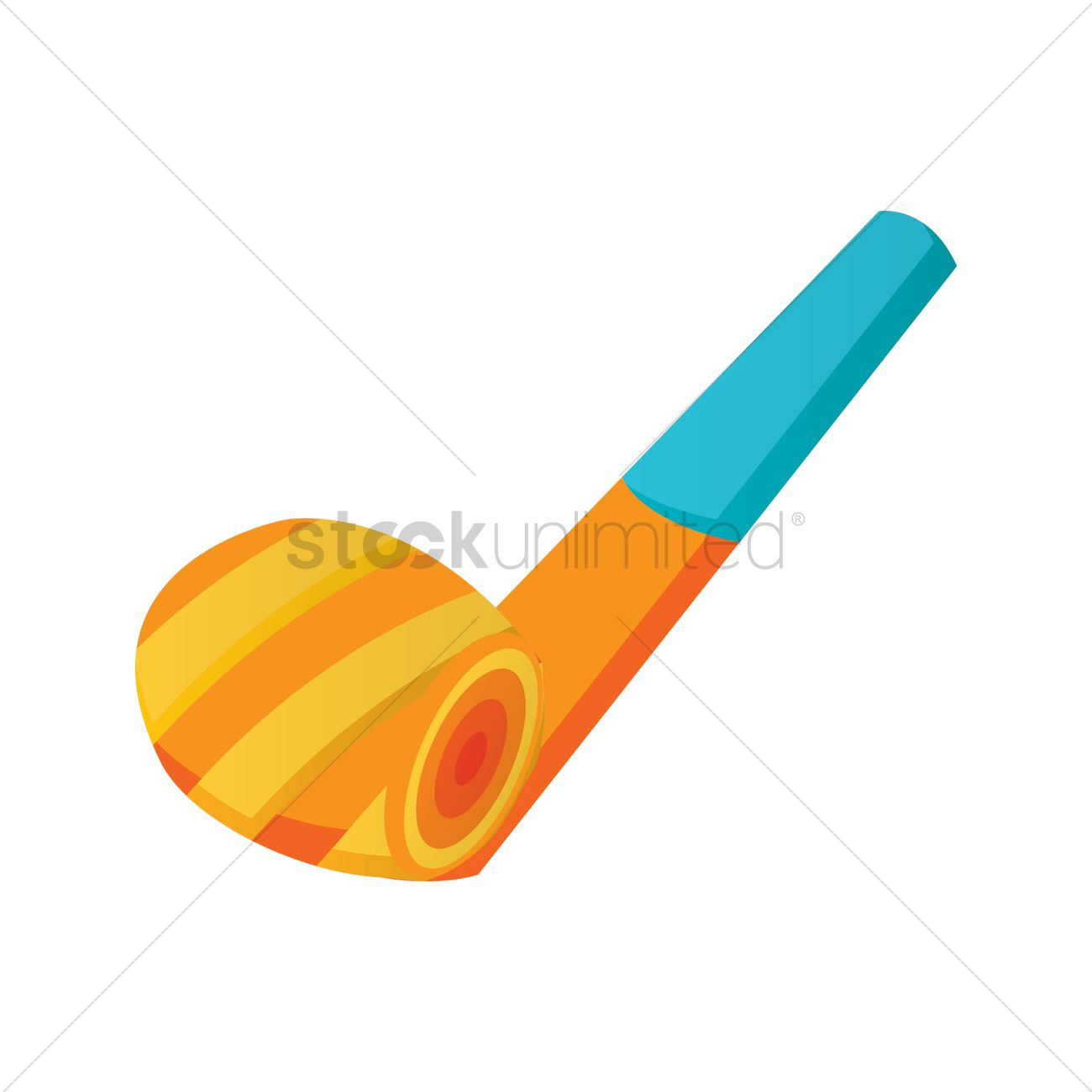 Party Horn Blower Vector Graphic