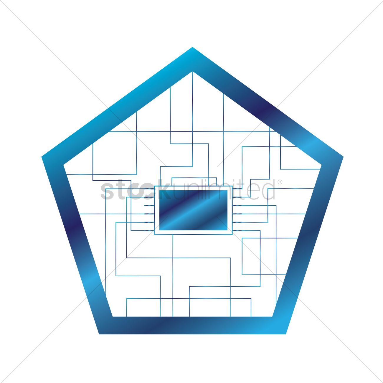 Pentagon shape circuit vector image 1647085 stockunlimited for Pentagon shaped house plans