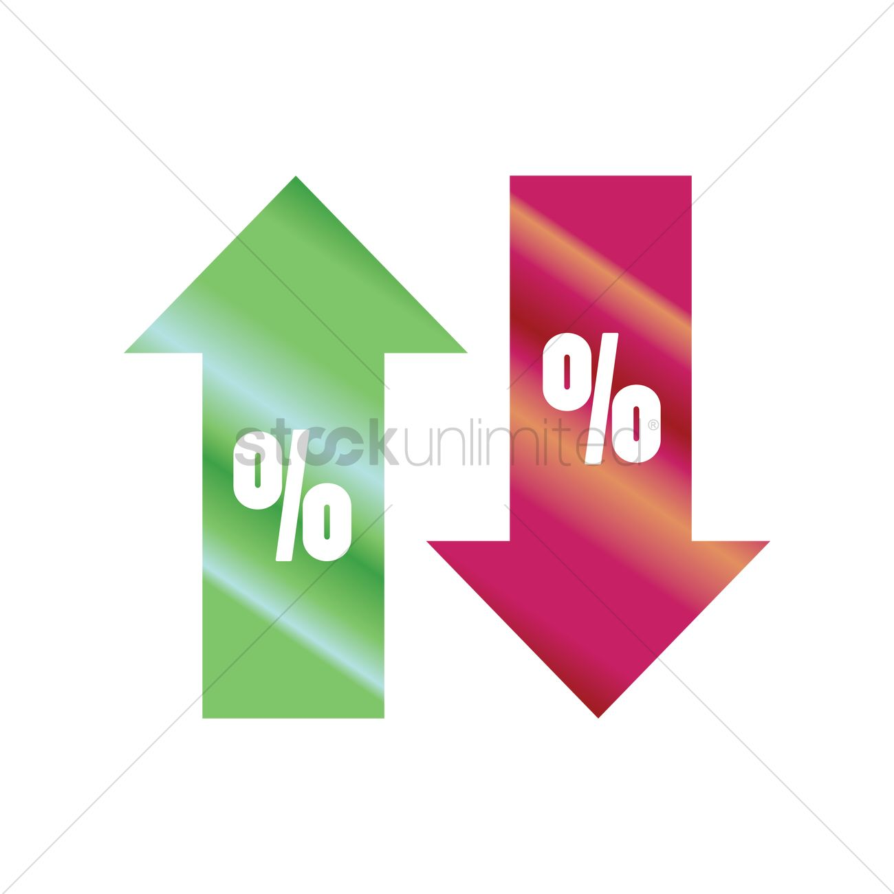 Percentage Symbol With Up And Down Arrow Vector Image 1790957