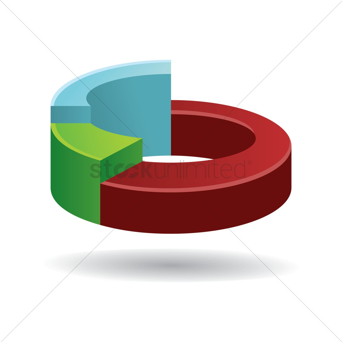 free pie chart vector image 1537565 stockunlimited