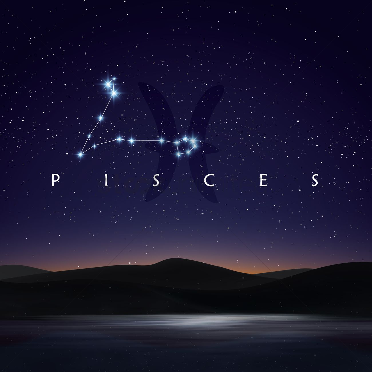 Pisces constellation Vector Image - 1964125 | StockUnlimited