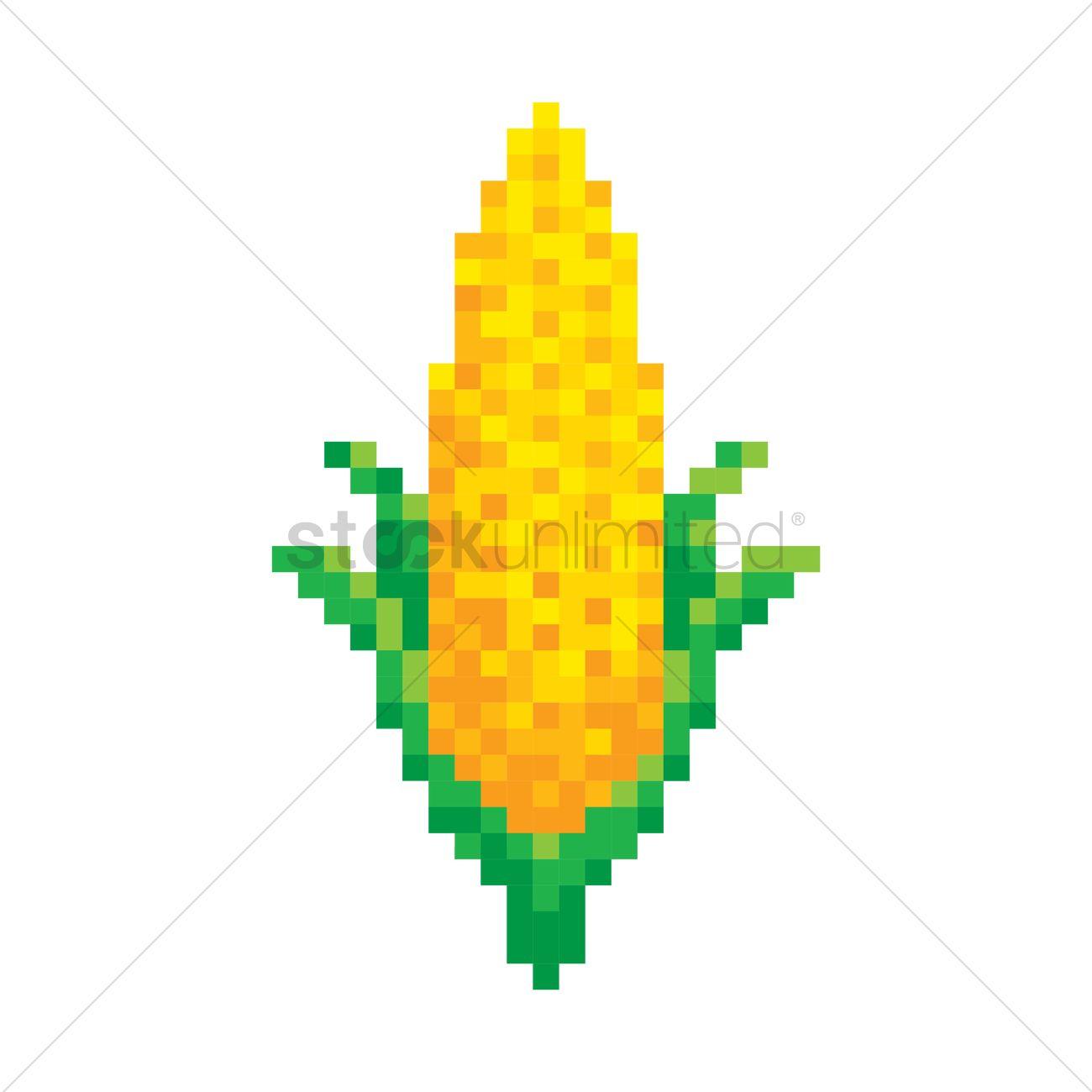 Pixel Art Corn Vector Image 1987417 Stockunlimited