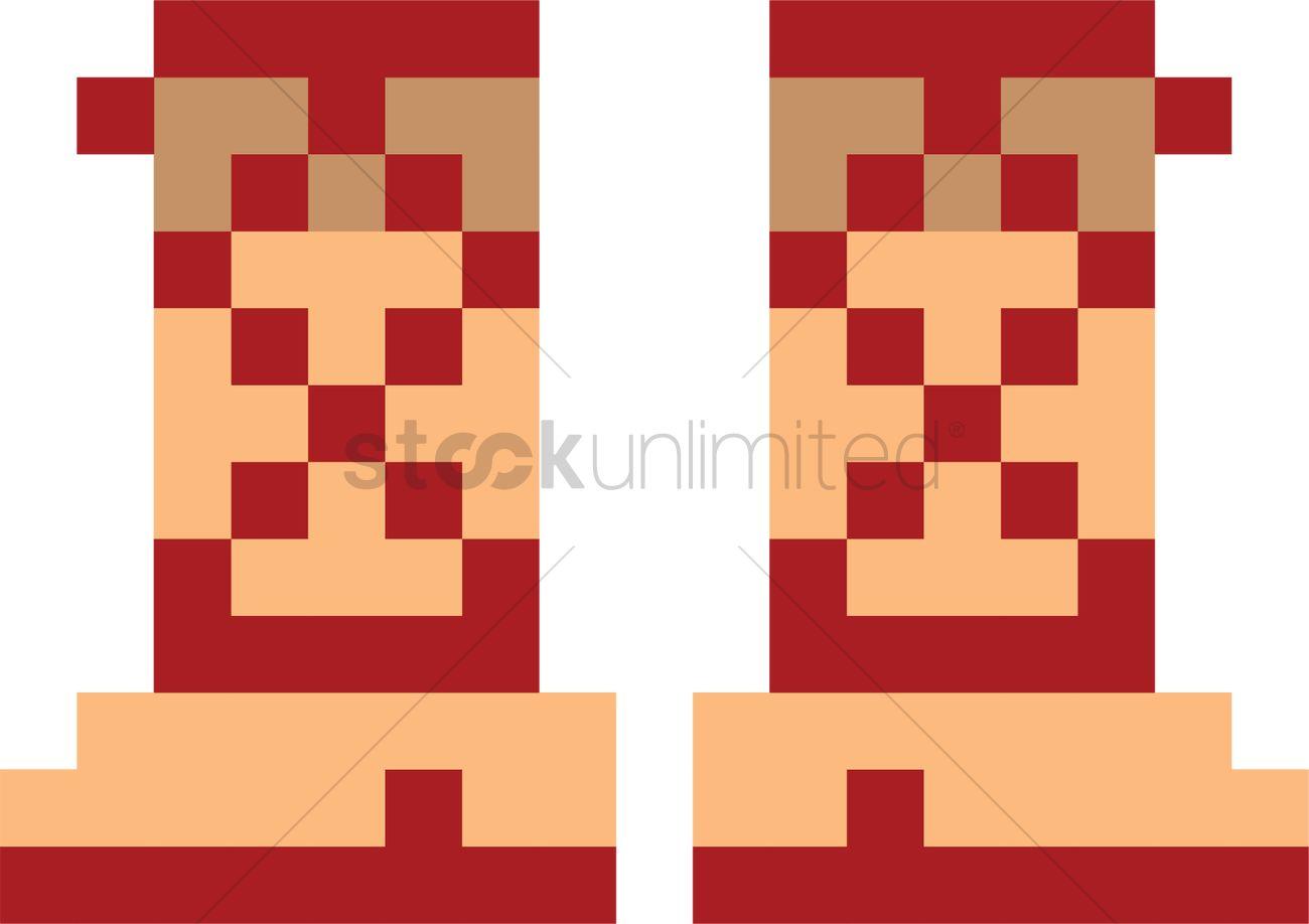 Pixel art gaming boots Vector Image , 2022321