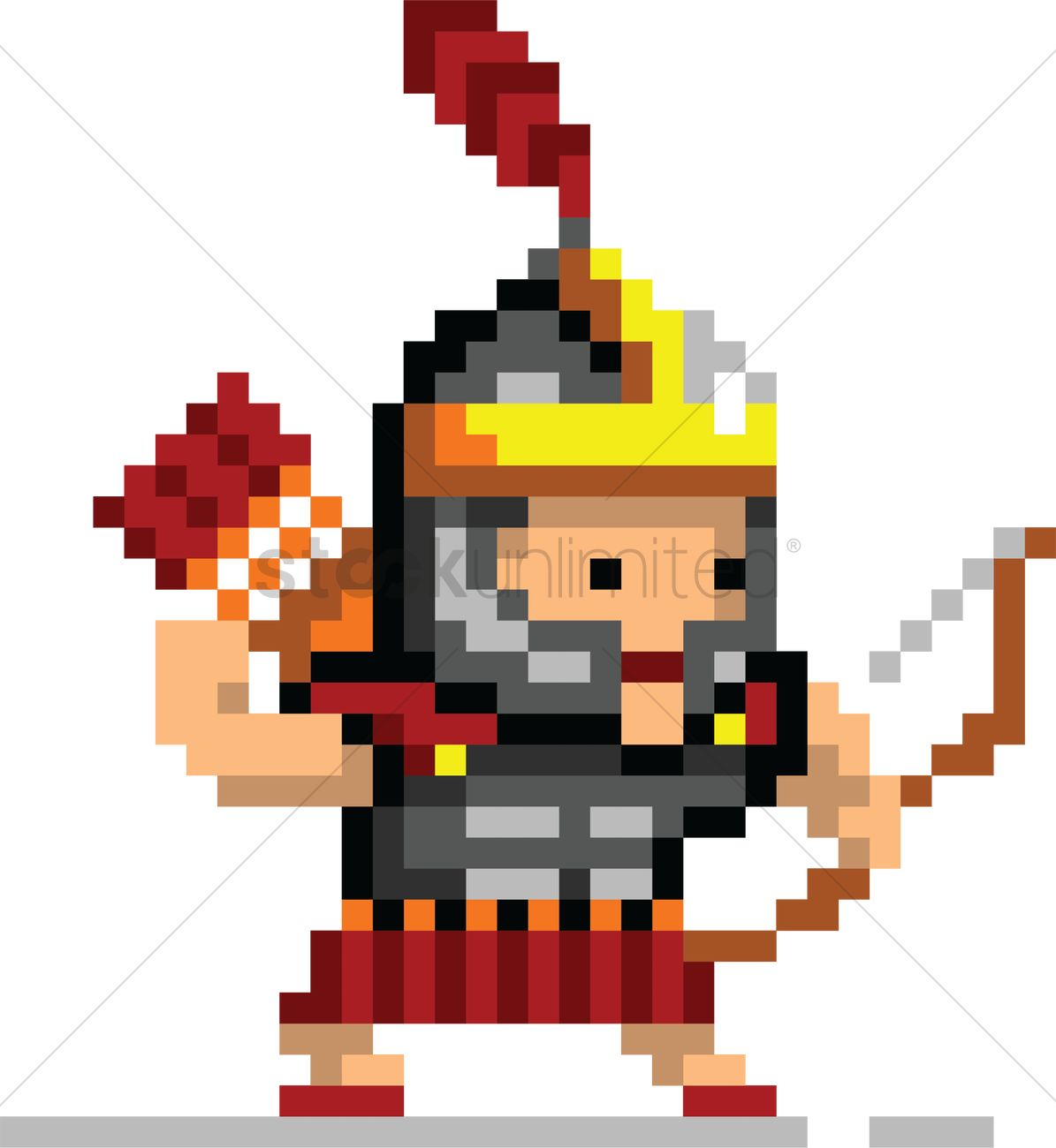 Pixel Art Gaming Character Vector Image 2022341