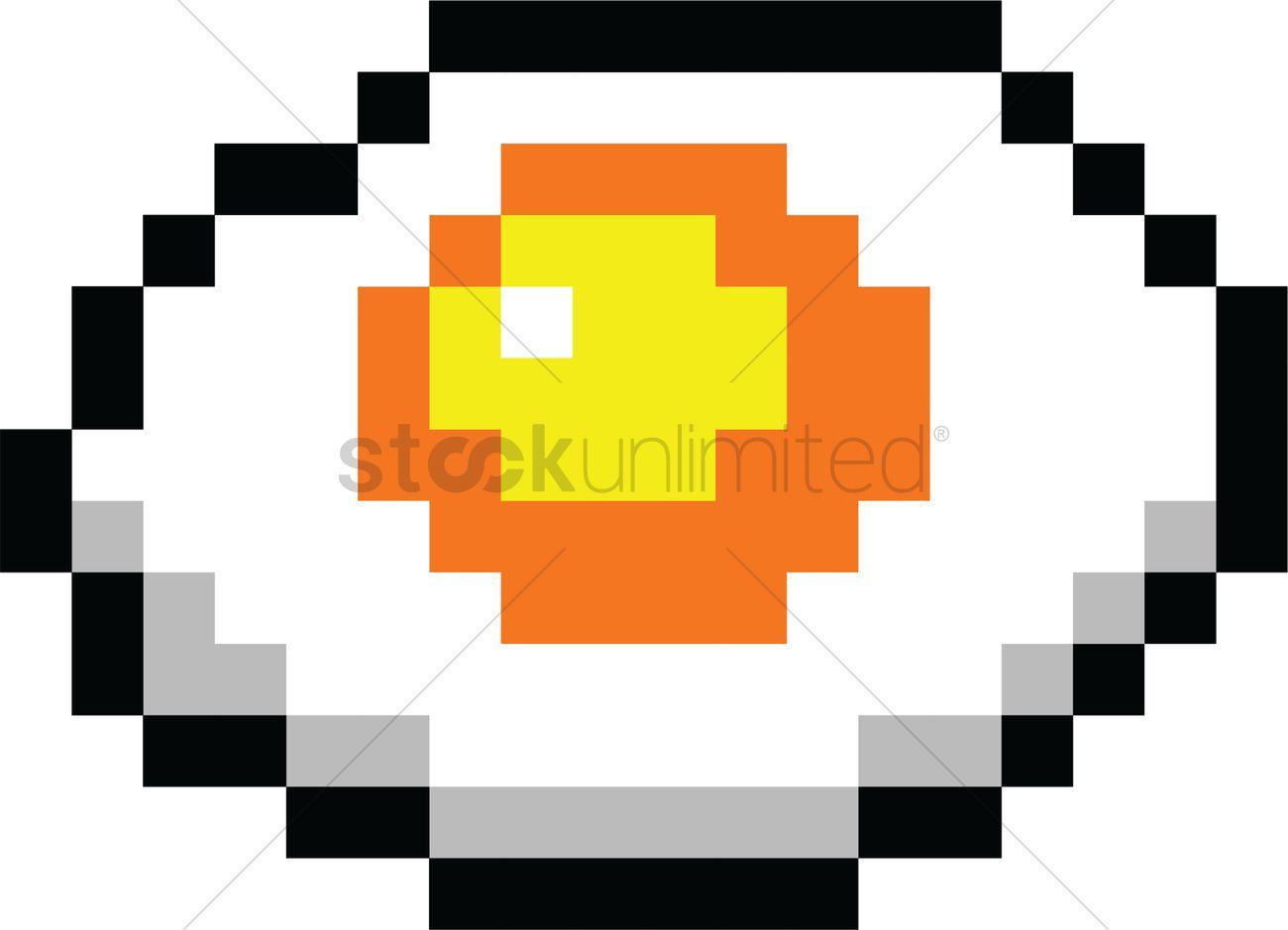 Pixel Art Gaming Fried Egg Vector Image 2022289