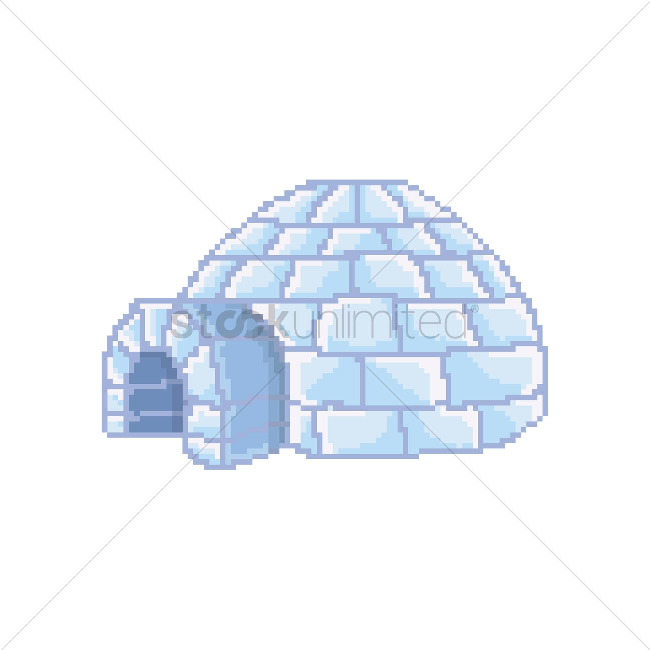 Pixel art igloo vector image 1987785 stockunlimited pixel art igloo vector graphic pooptronica