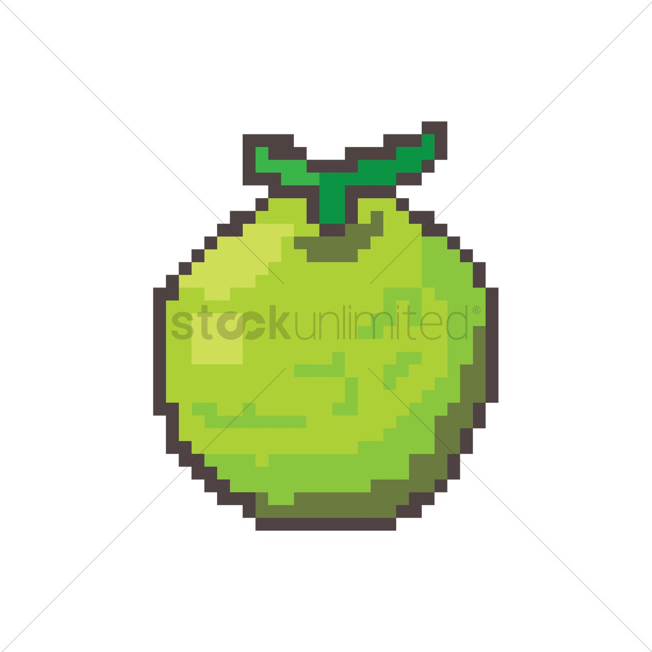 Pixel Art Lime Vector Image 1957697 Stockunlimited