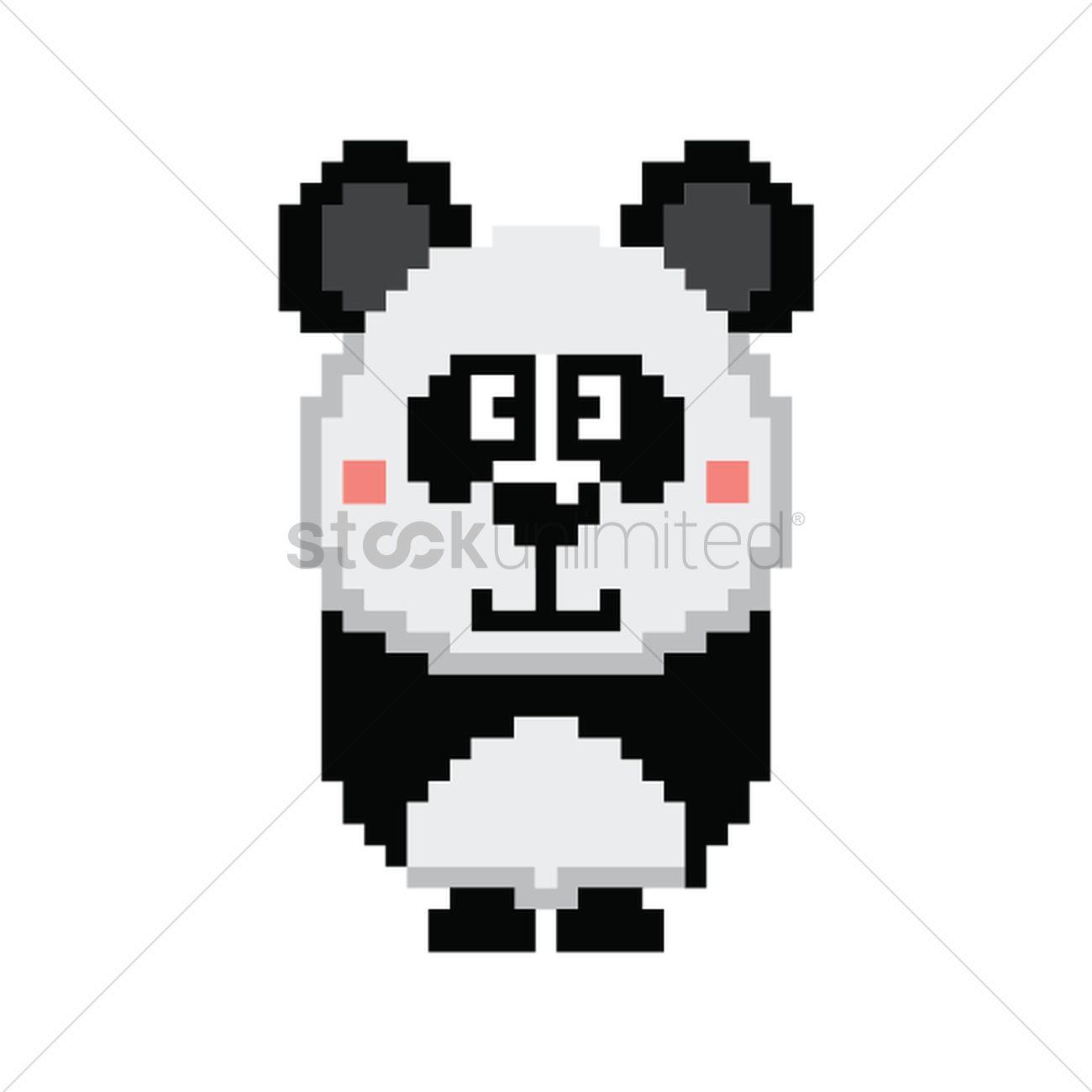 Pixel Art Panda Vector Image 1959697 Stockunlimited